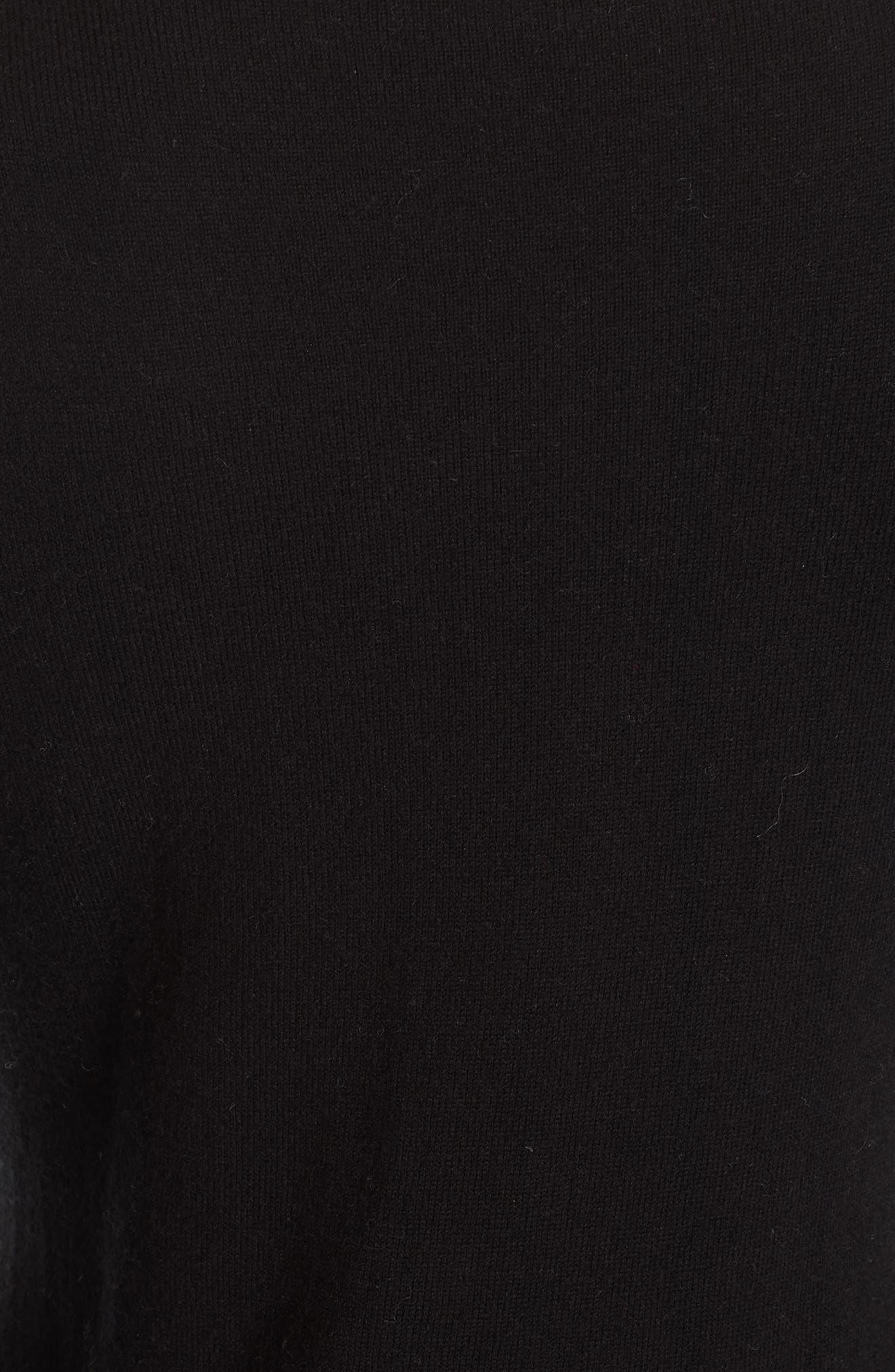 bow embellished sweater,                             Alternate thumbnail 5, color,                             BLACK