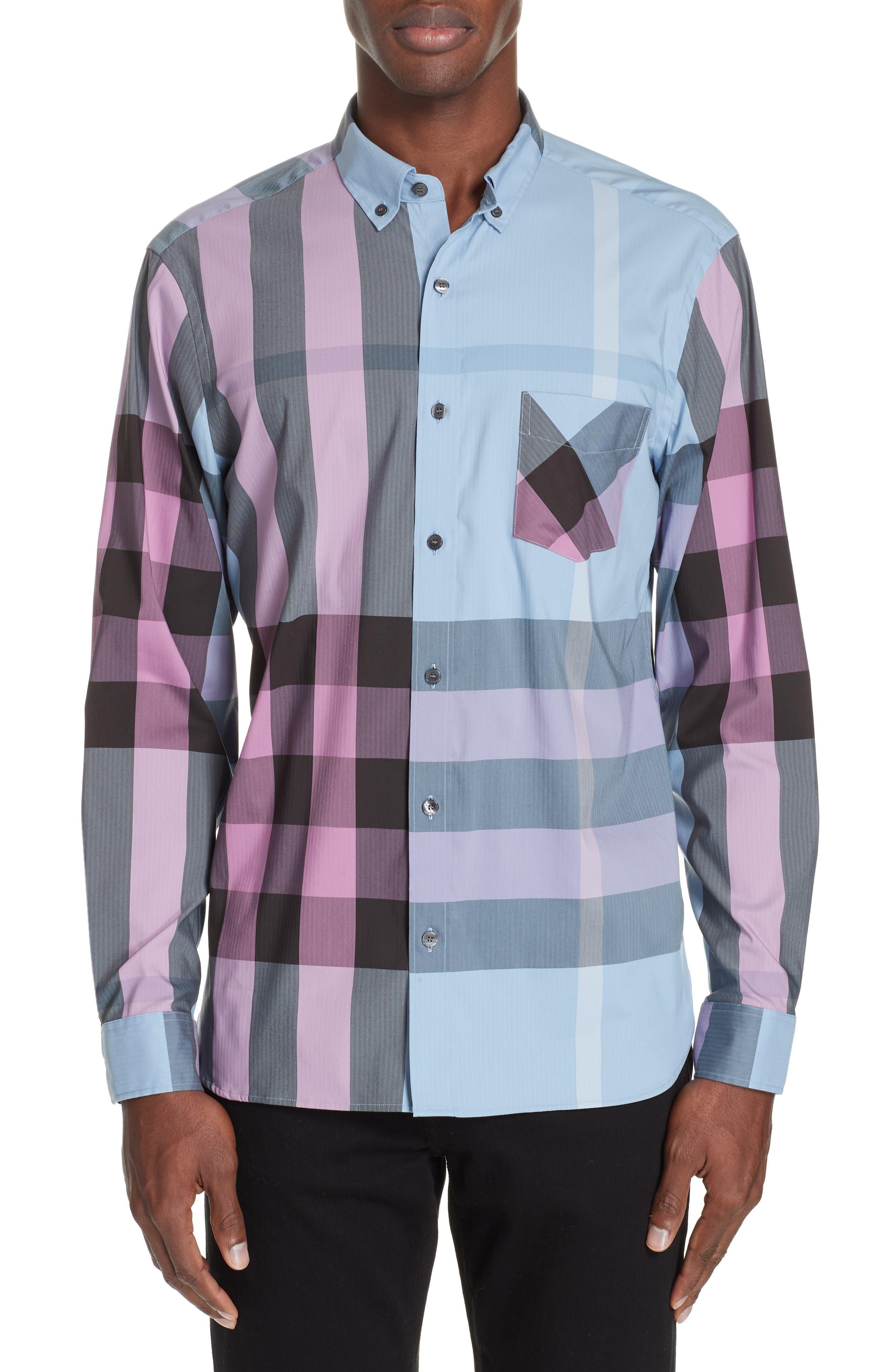 Thornaby Slim Fit Check Sport Shirt,                             Main thumbnail 1, color,                             CHALK BLUE IP CHK
