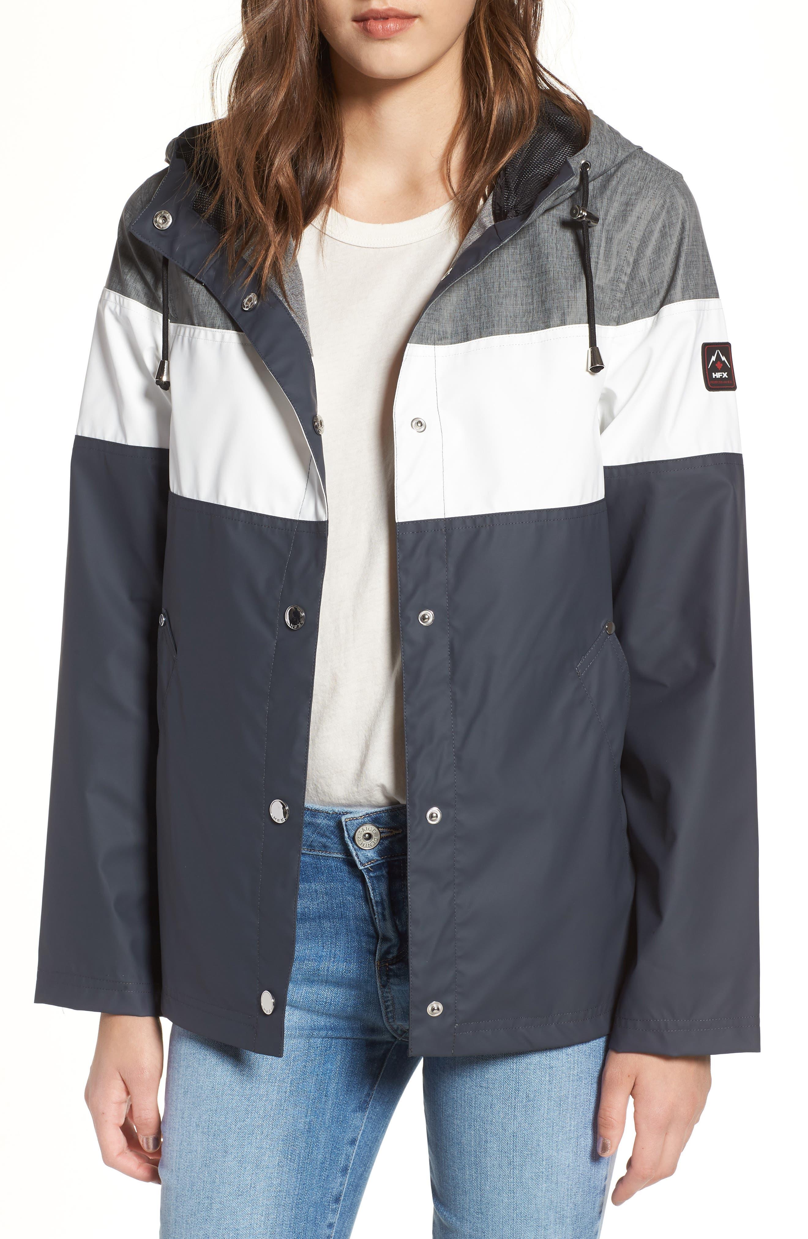Hooded Raincoat,                         Main,                         color, 007
