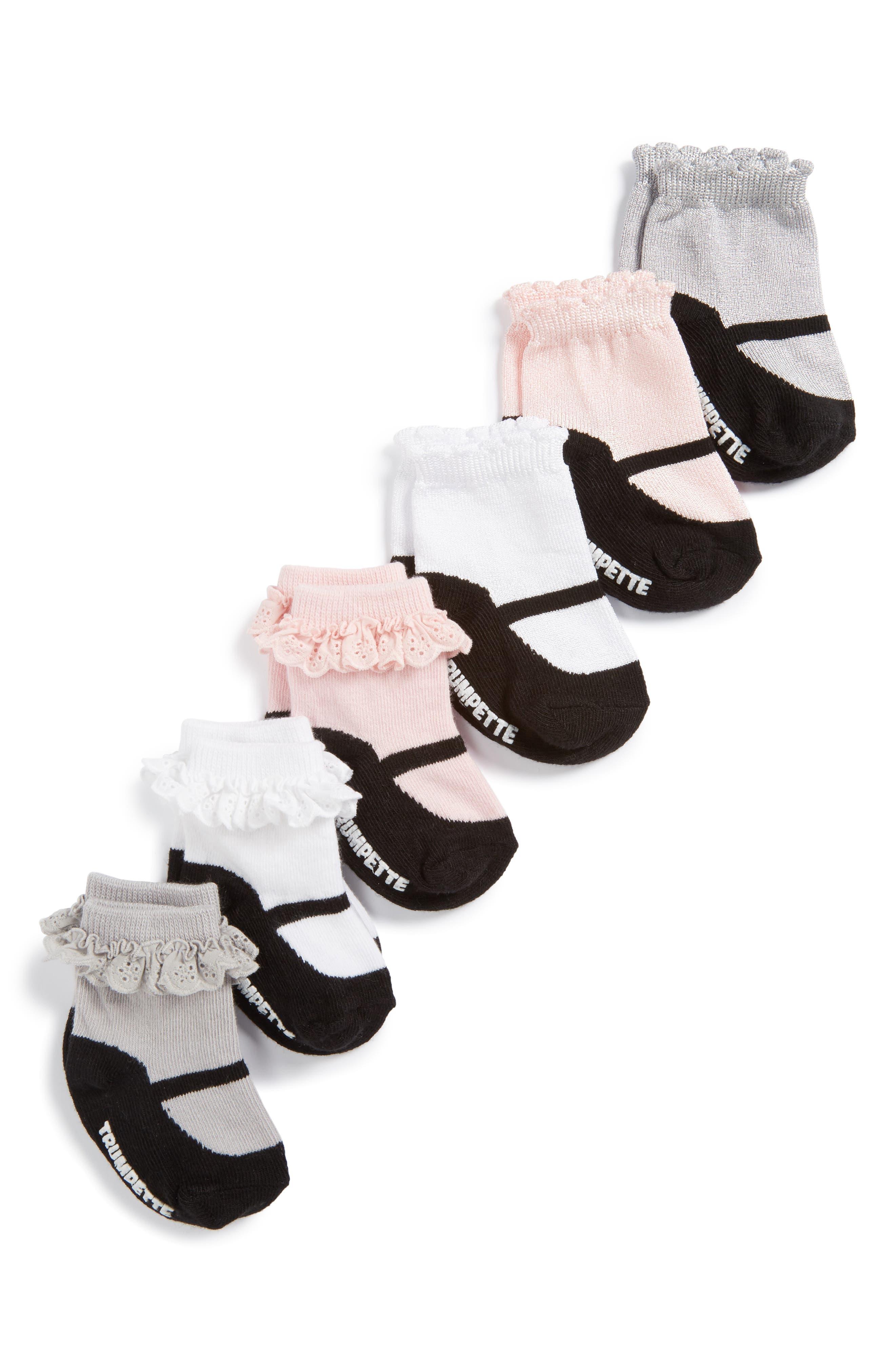 Taylors 6-Pack Socks,                             Alternate thumbnail 2, color,                             001