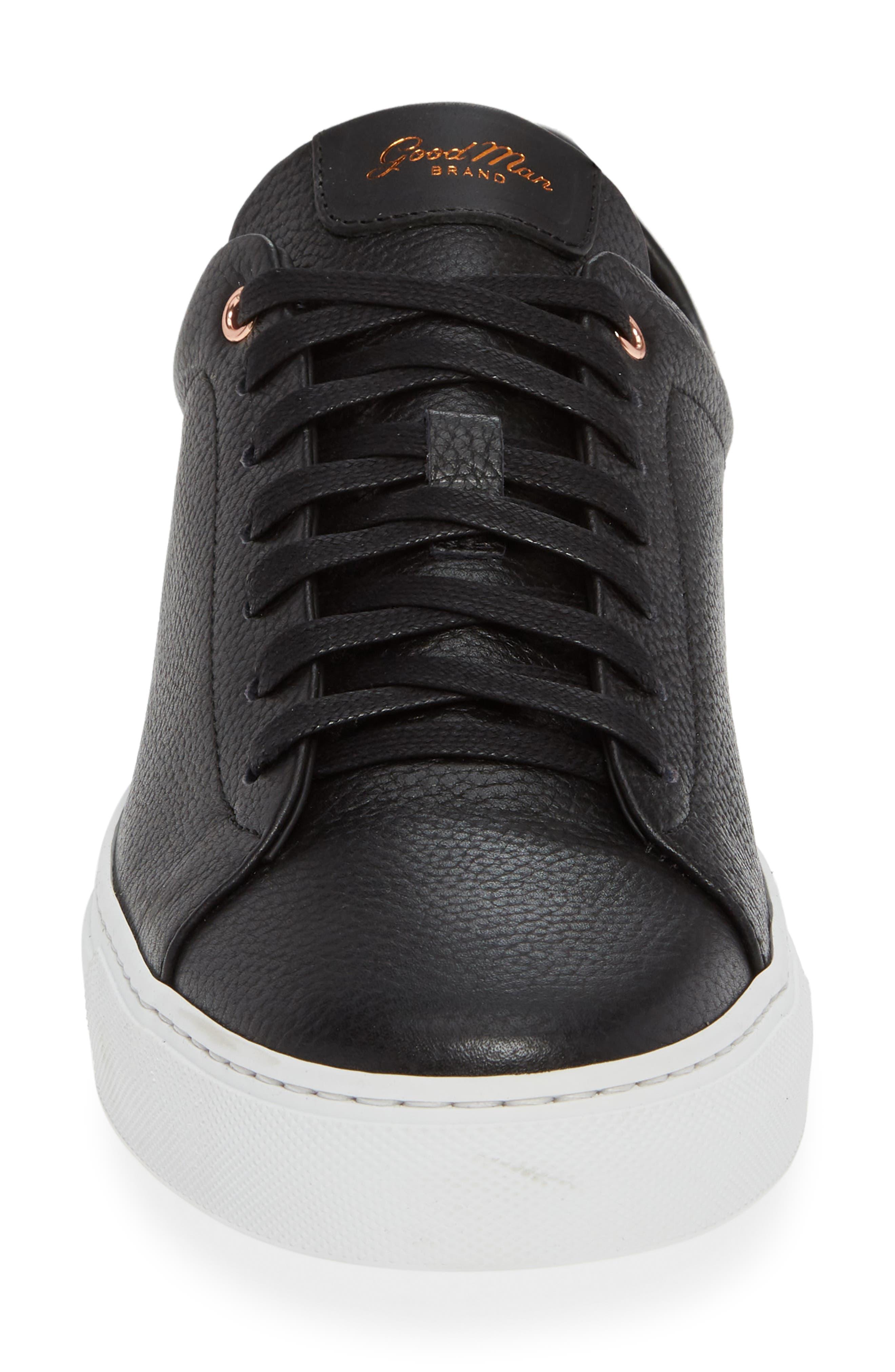 Legend Low Top Sneaker,                             Alternate thumbnail 4, color,                             BLACK PEBBLE LEATHER