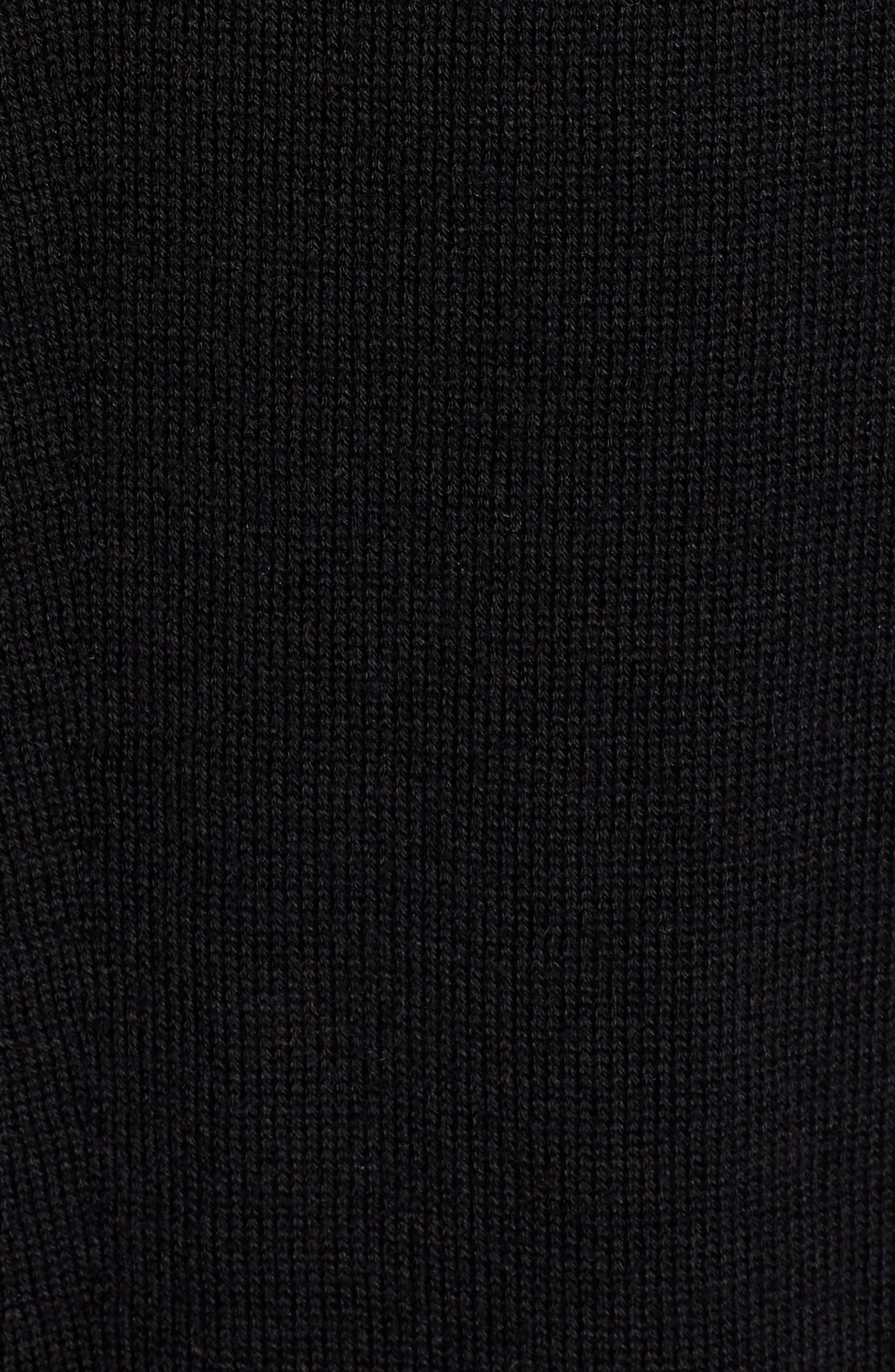 Seam Detail Shirttail Tunic,                             Alternate thumbnail 5, color,                             BLACK