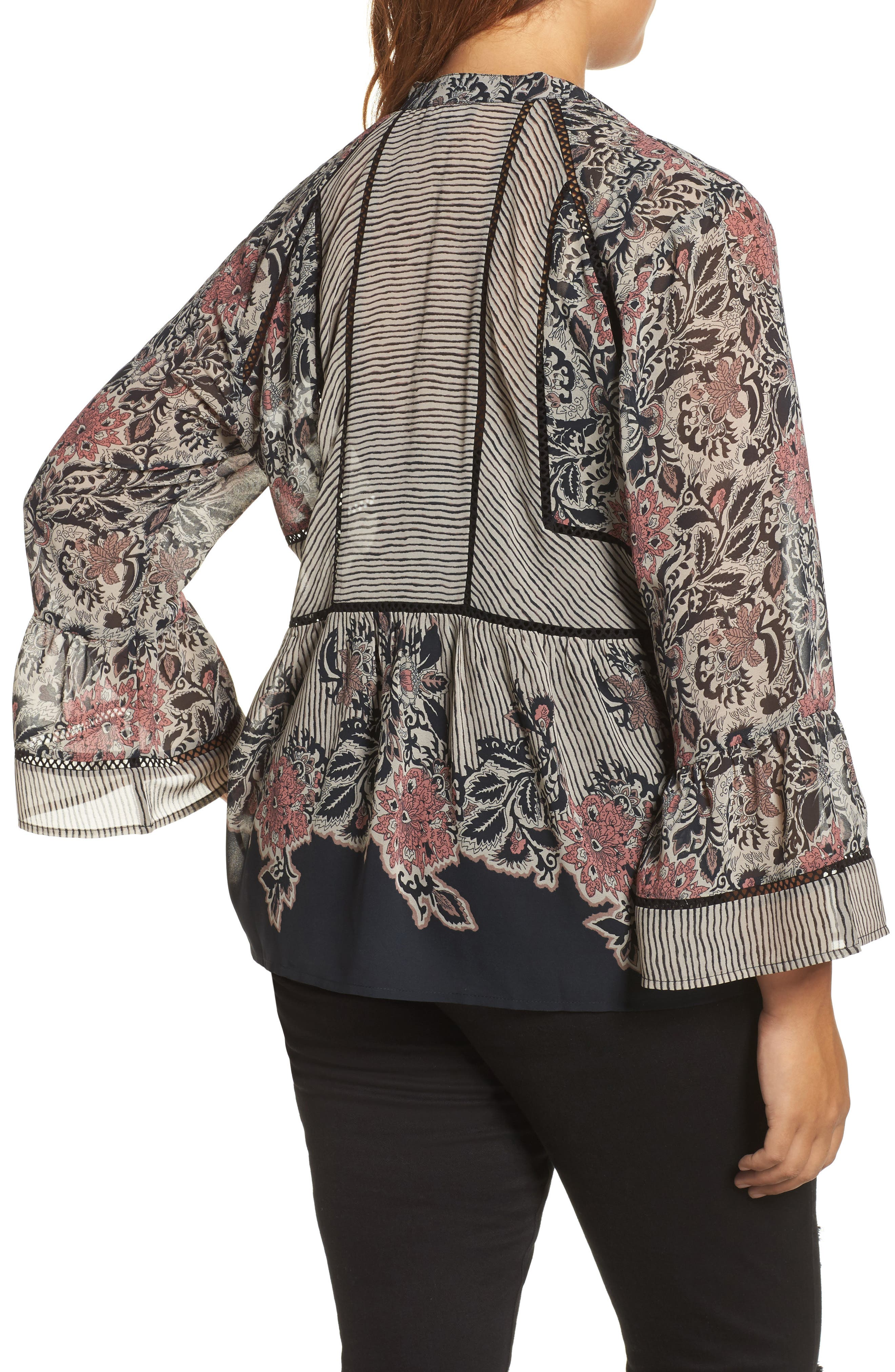 Mixed Print Top,                             Alternate thumbnail 2, color,                             009
