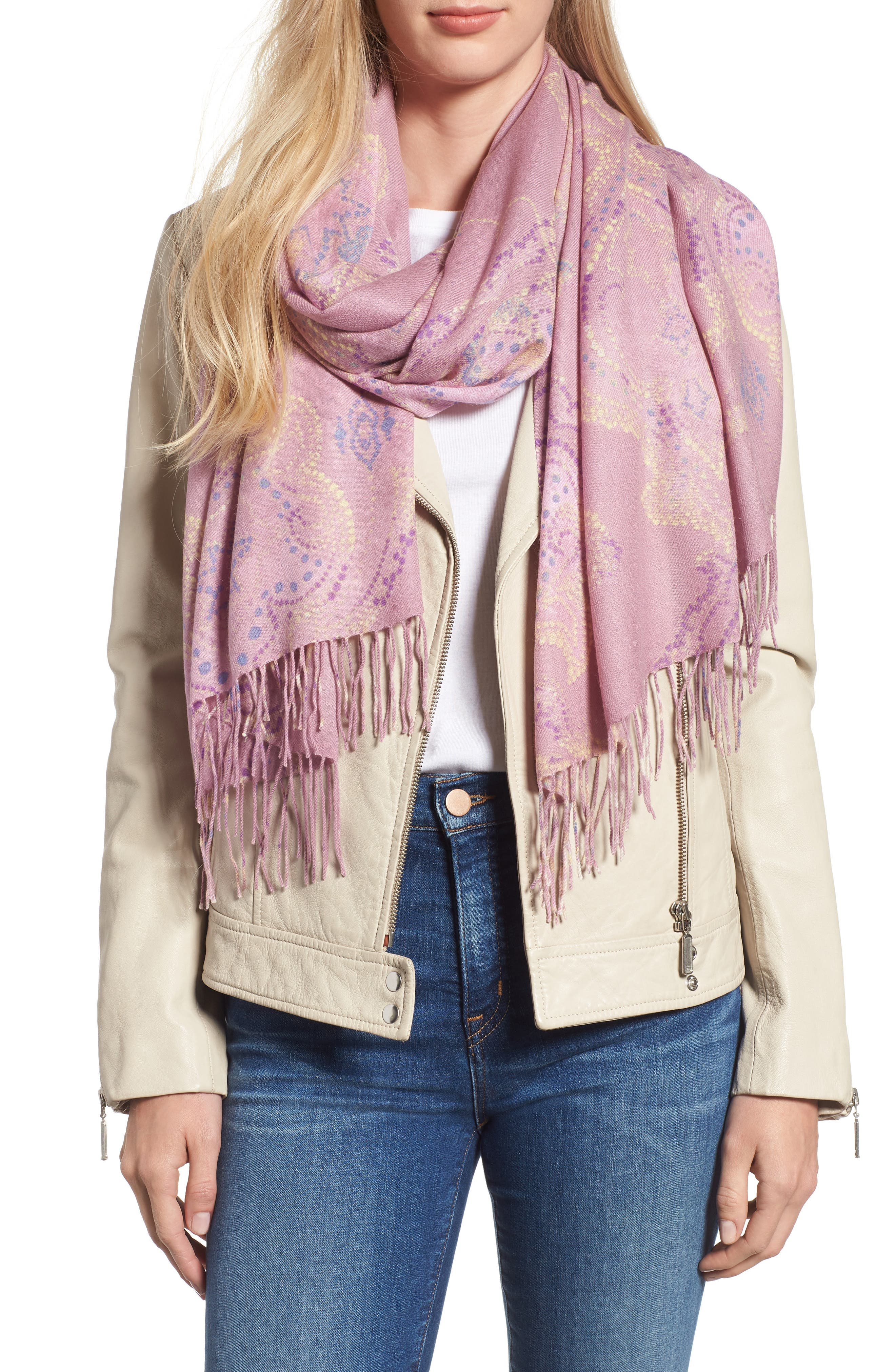Tissue Print Wool & Cashmere Wrap Scarf,                             Main thumbnail 20, color,
