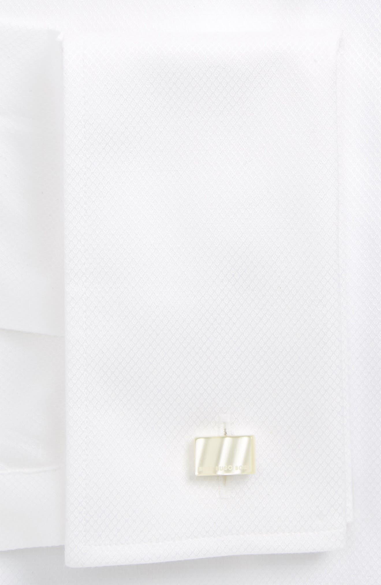 Jameson Slim Fit Diamond Weave French Cuff Tuxedo Shirt,                             Alternate thumbnail 2, color,                             120