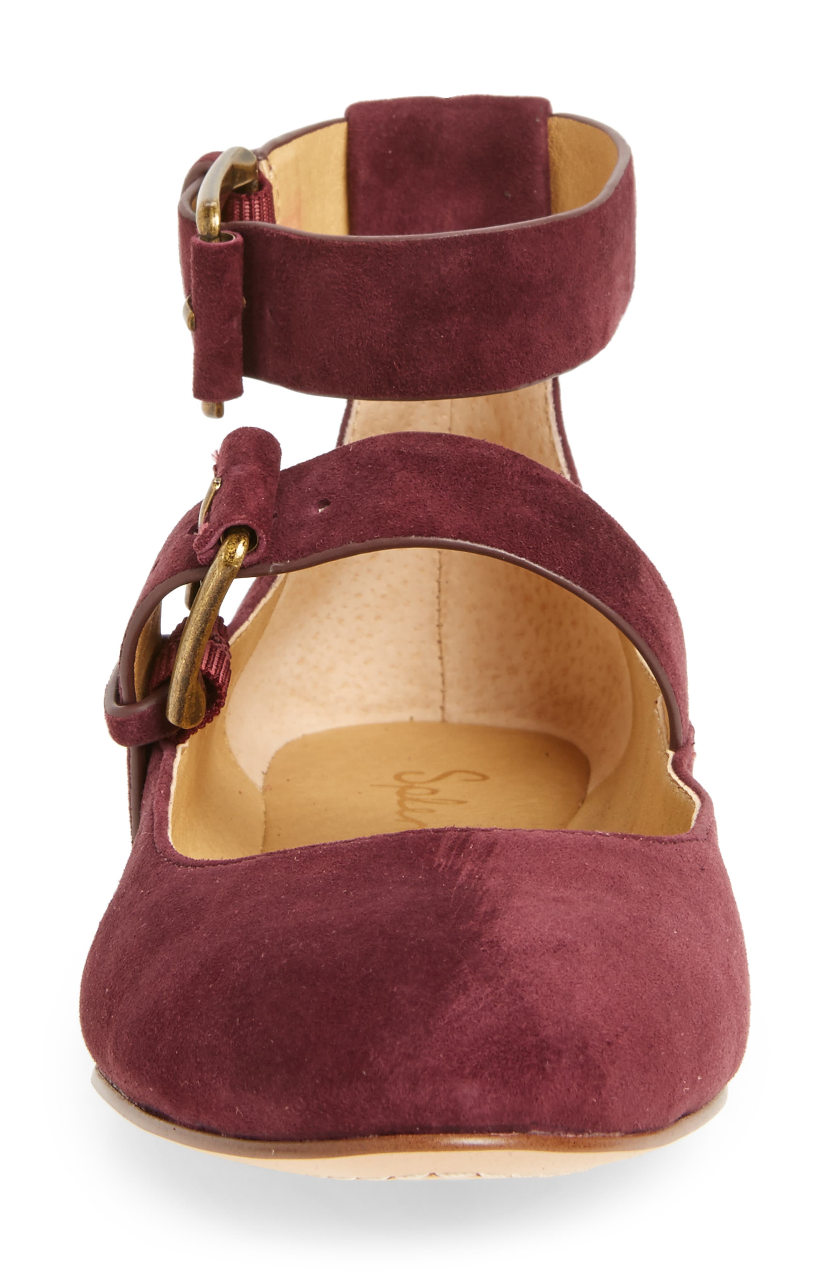 Dalenna Ankle Strap Ballet Flat,                             Alternate thumbnail 12, color,