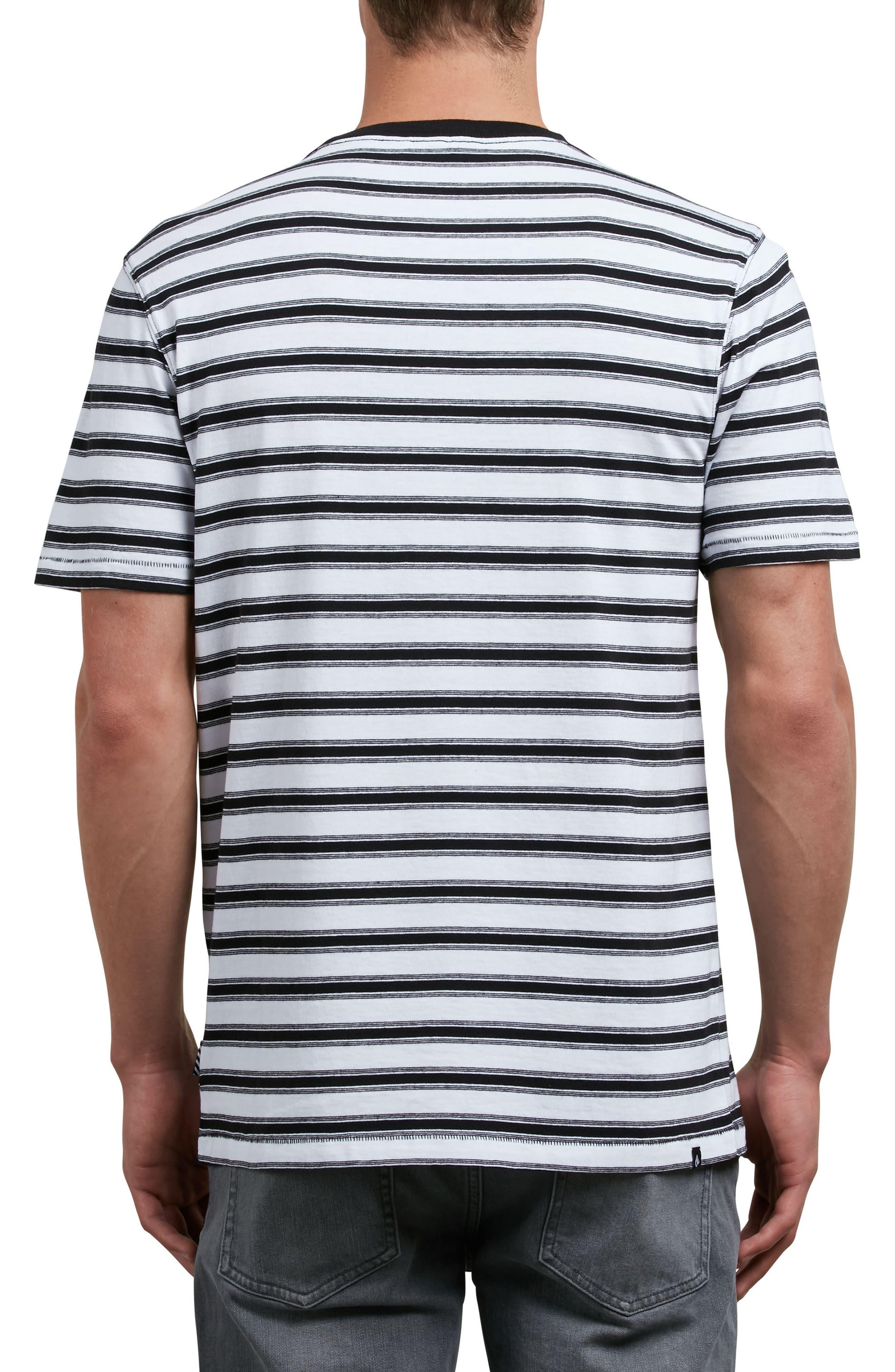 Briggs Stripe Crewneck T-Shirt,                             Alternate thumbnail 2, color,                             100