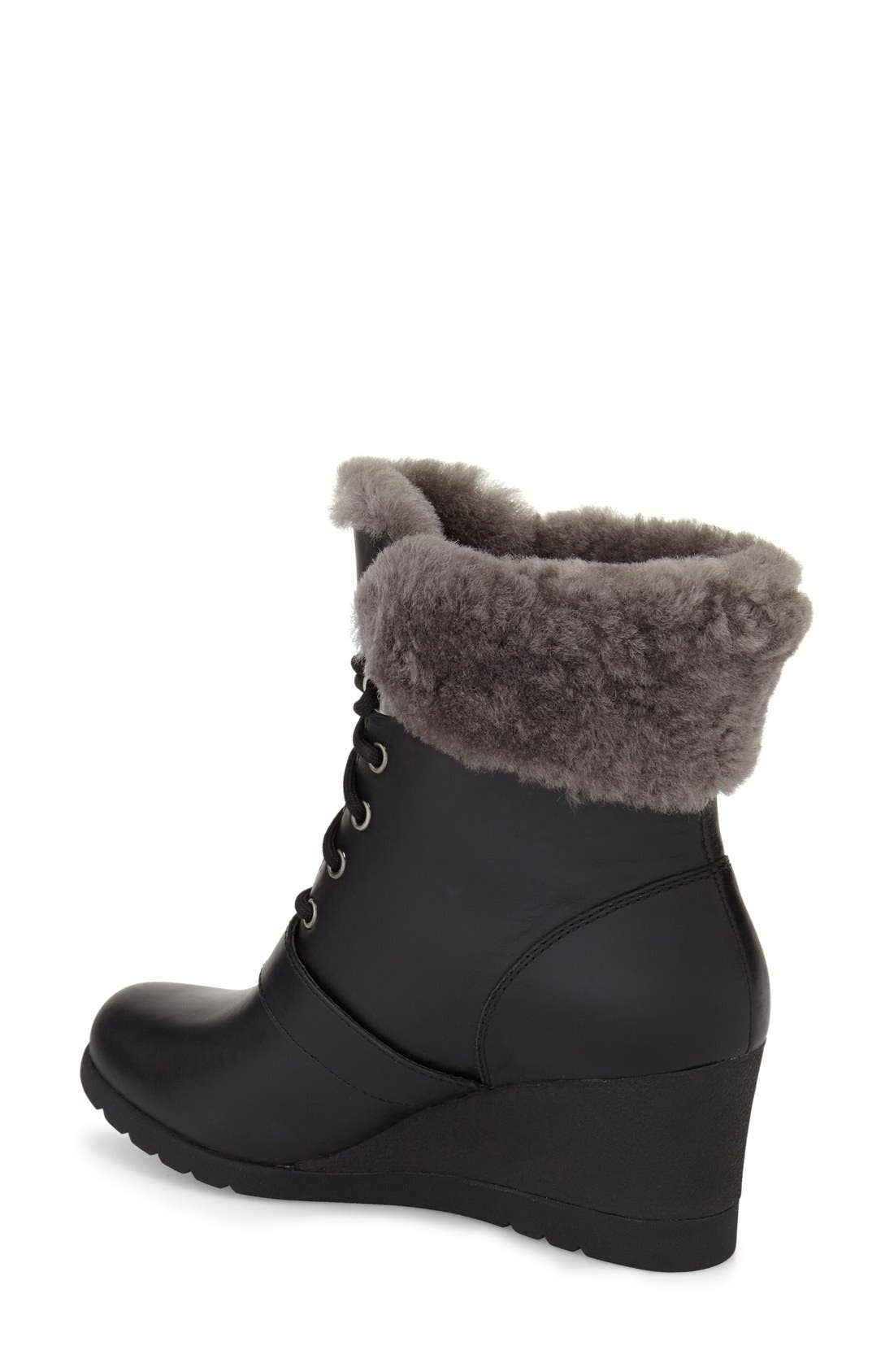 Janney Waterproof Thinsulate<sup>®</sup> Wedge Bootie,                             Alternate thumbnail 2, color,                             001
