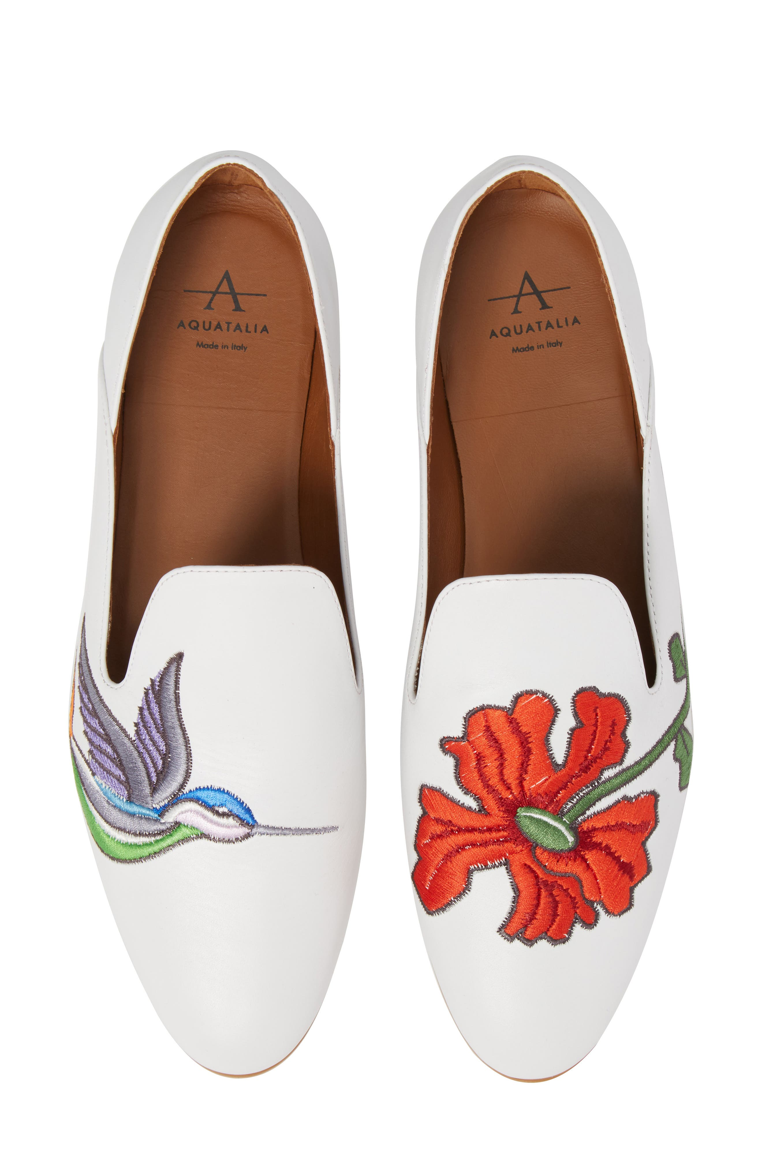 Emmaline Embroidered Loafer,                             Main thumbnail 1, color,                             100