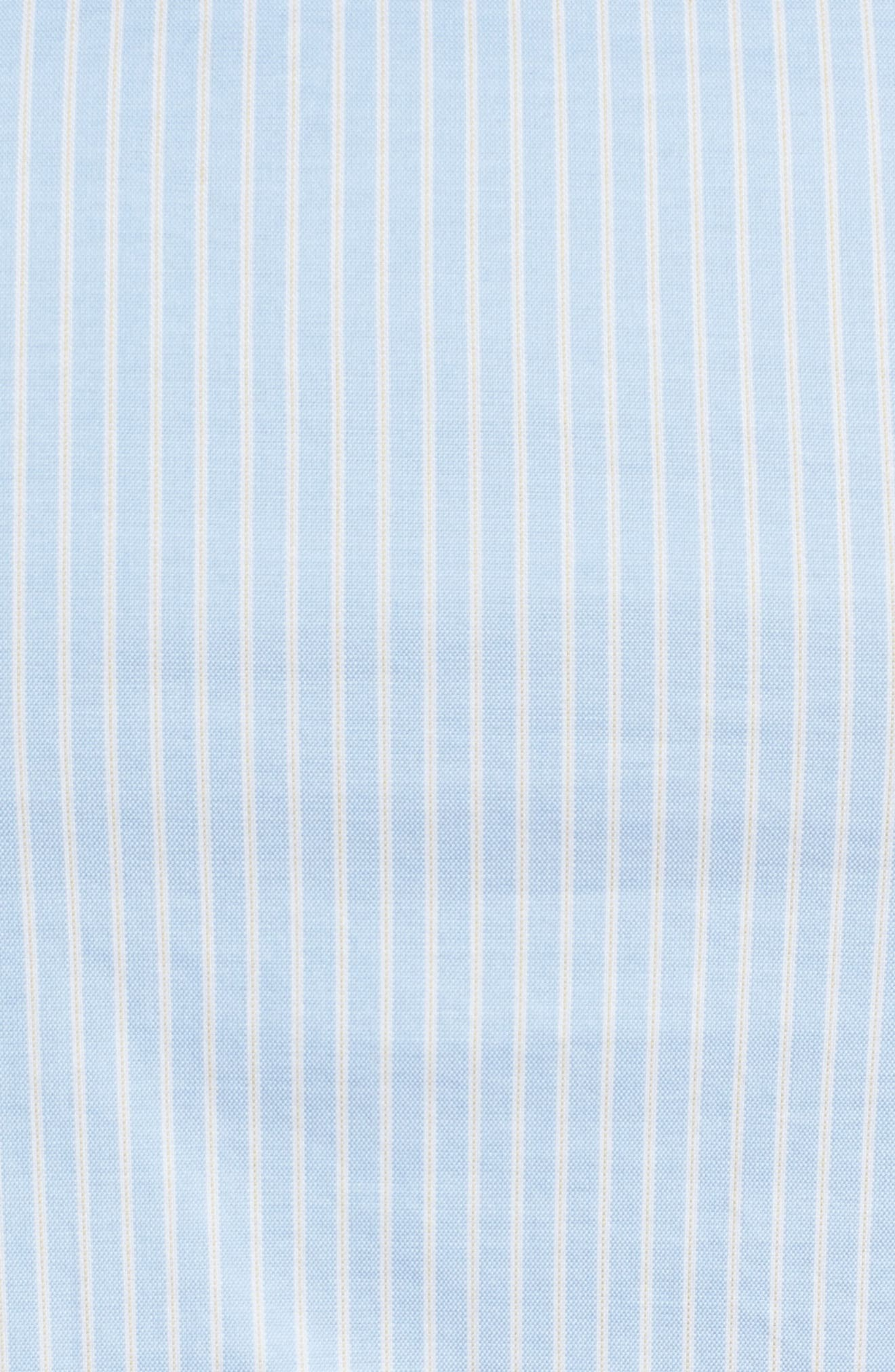 LACOSTE,                             Slim Fit Stripe Shirt,                             Alternate thumbnail 5, color,                             436