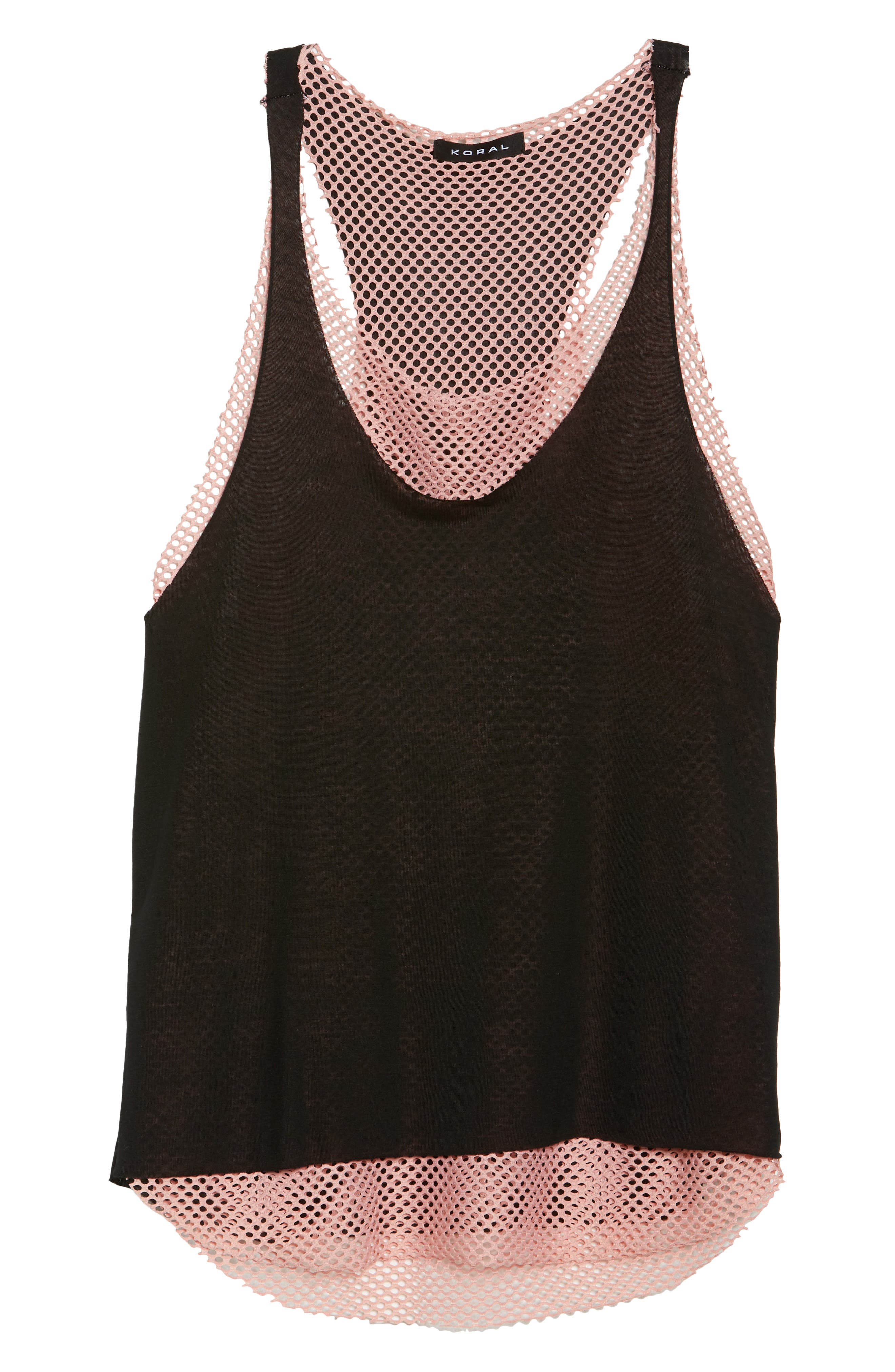 Villa Layered Racerback Tank,                             Alternate thumbnail 7, color,                             001