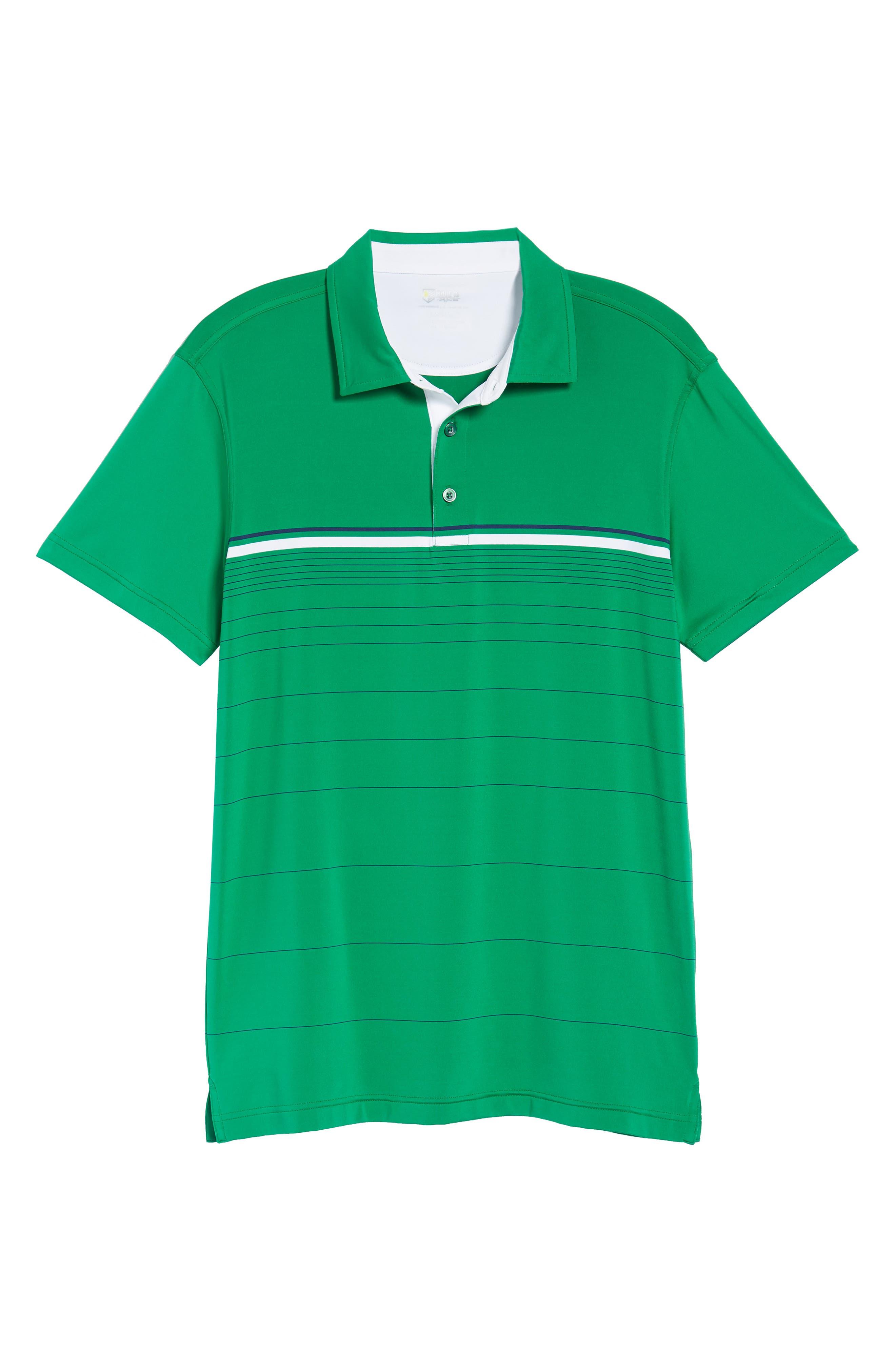 R18 Tech Skill Stripe Polo,                             Alternate thumbnail 6, color,                             KELLY