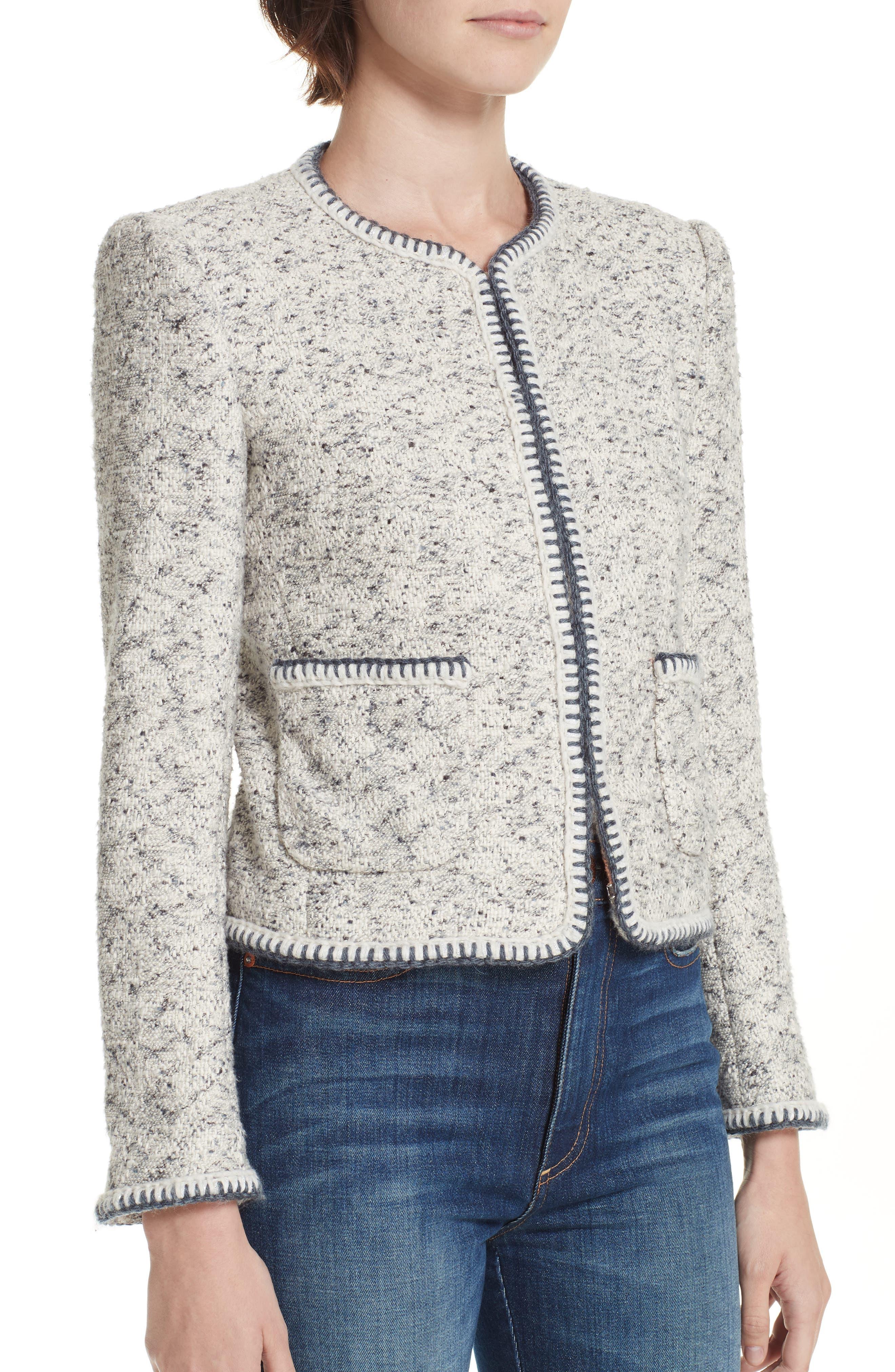 Speckled Tweed Jacket,                             Alternate thumbnail 4, color,                             054