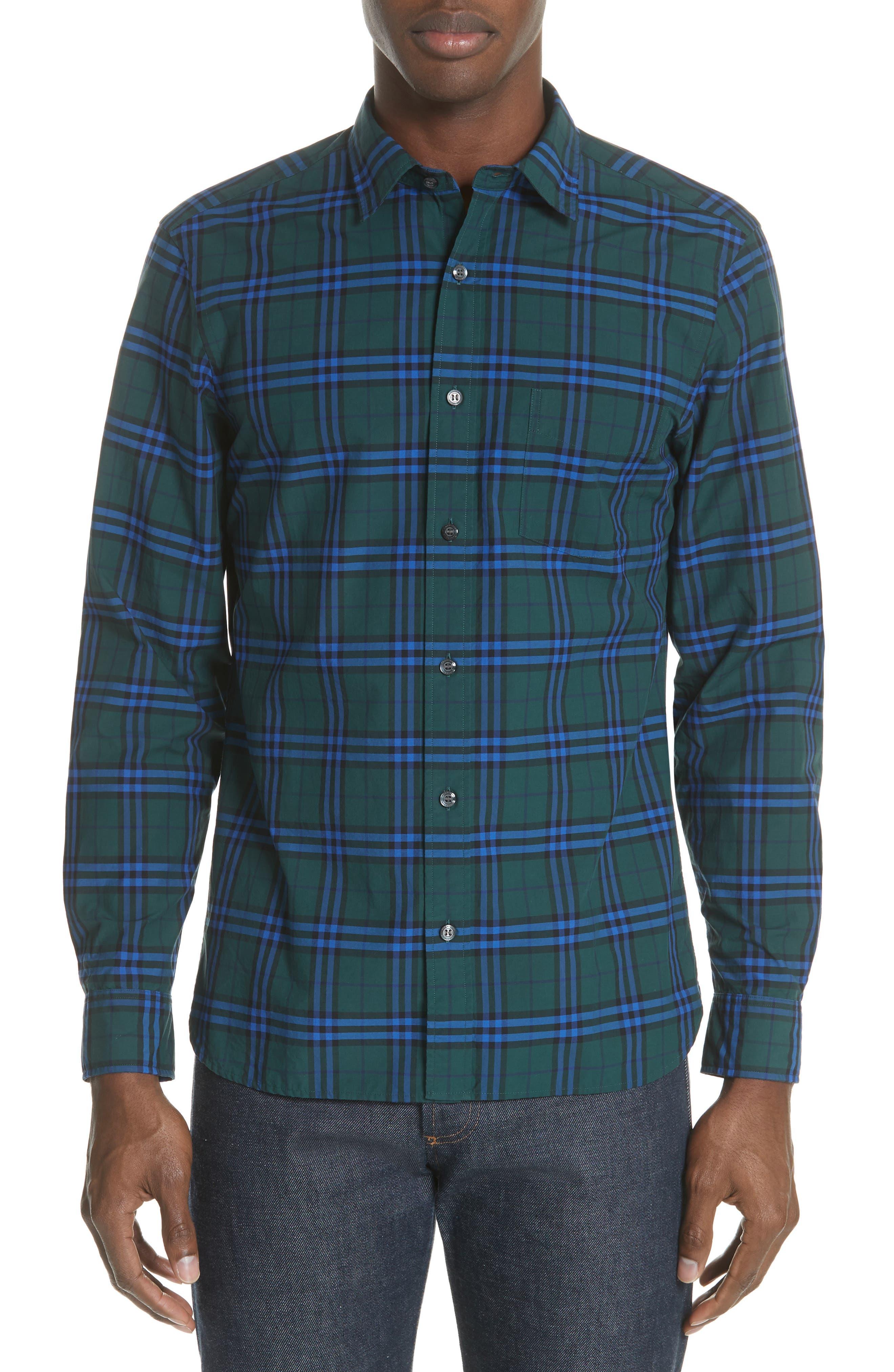Alexander Check Sport Shirt,                         Main,                         color, 341