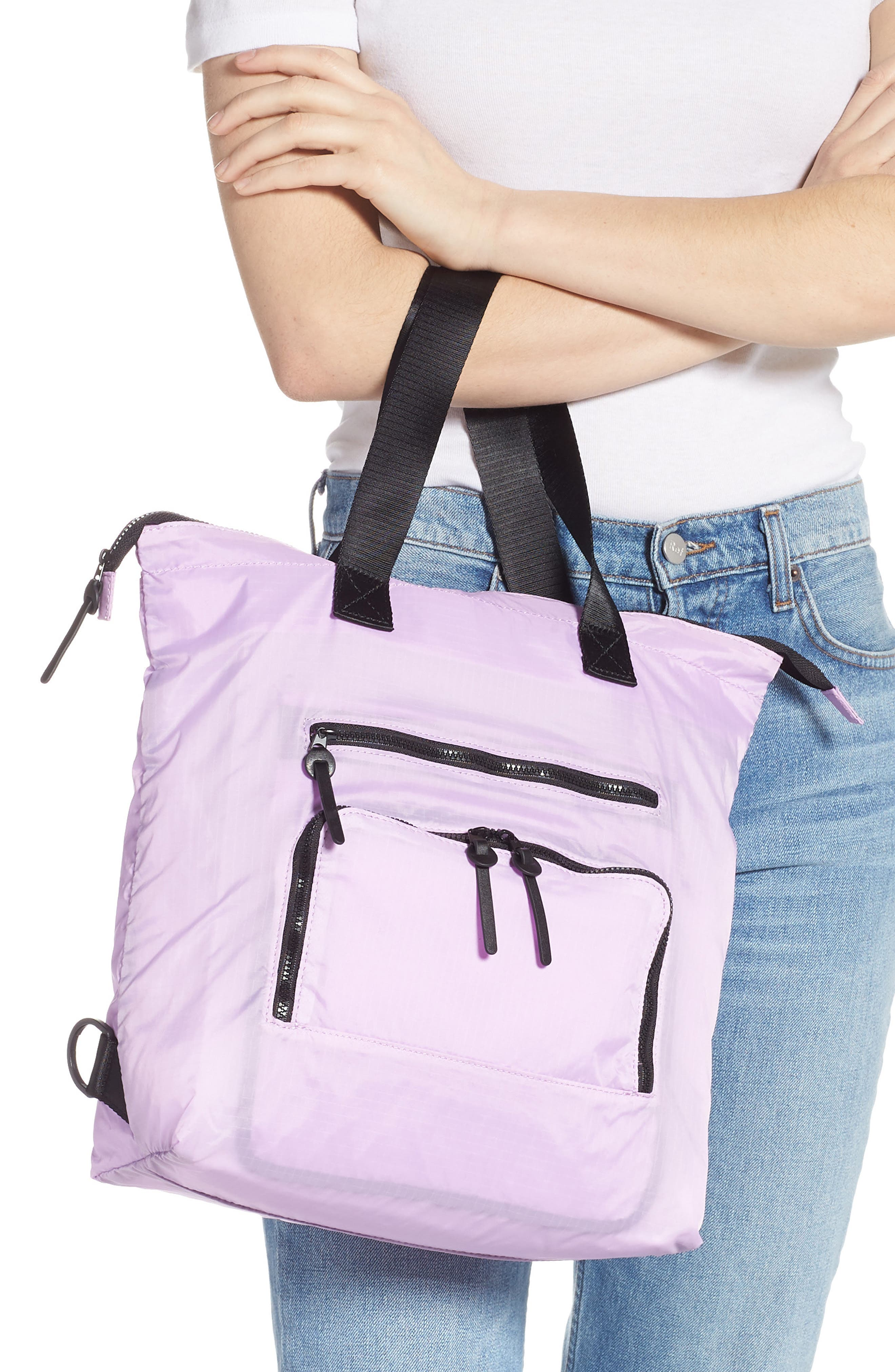 Packable Convertible Backpack,                             Alternate thumbnail 3, color,                             LAVENDER SWEET
