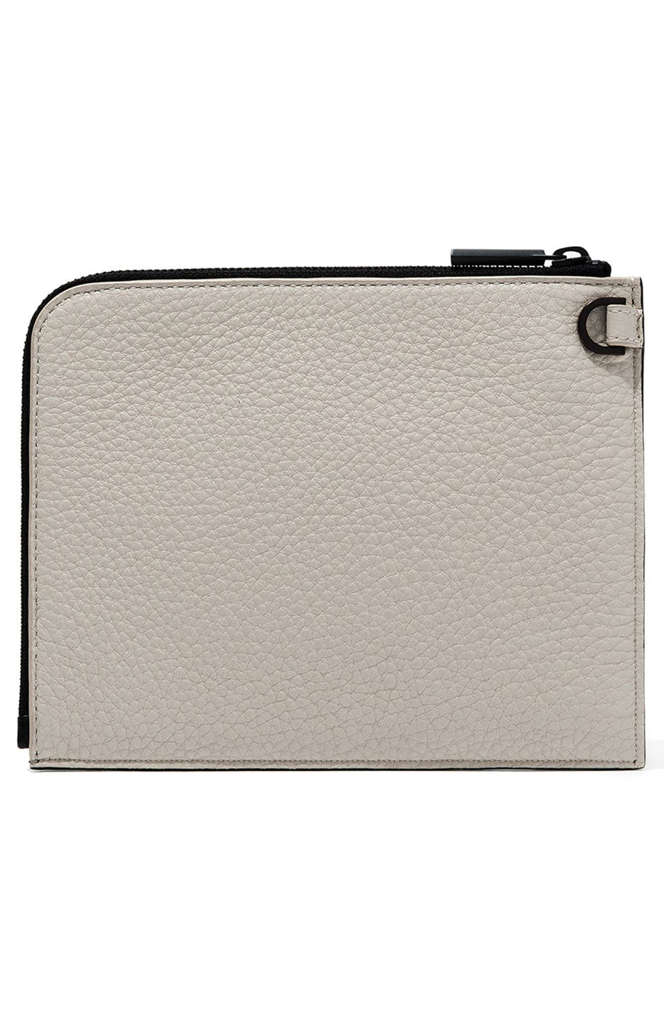 Small Elle Leather Clutch,                             Main thumbnail 8, color,