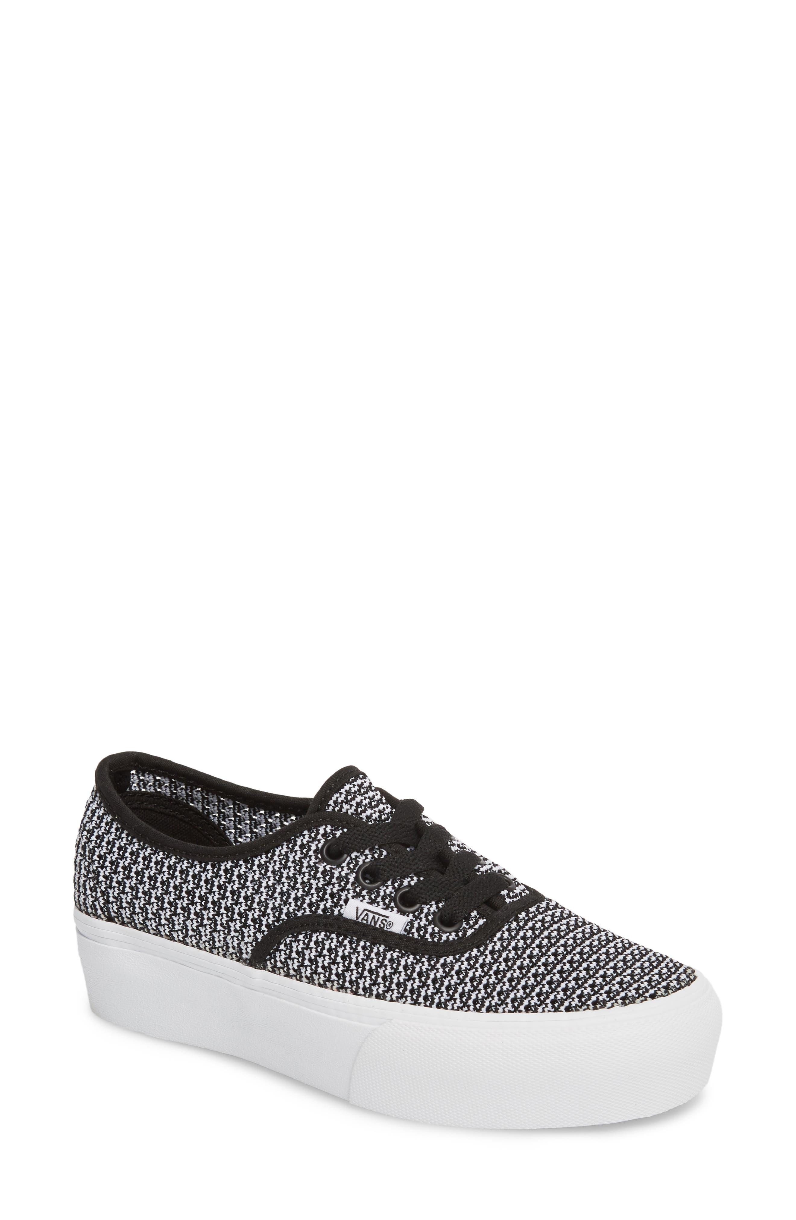 VANS 'Authentic' Platform Sneaker, Main, color, 004