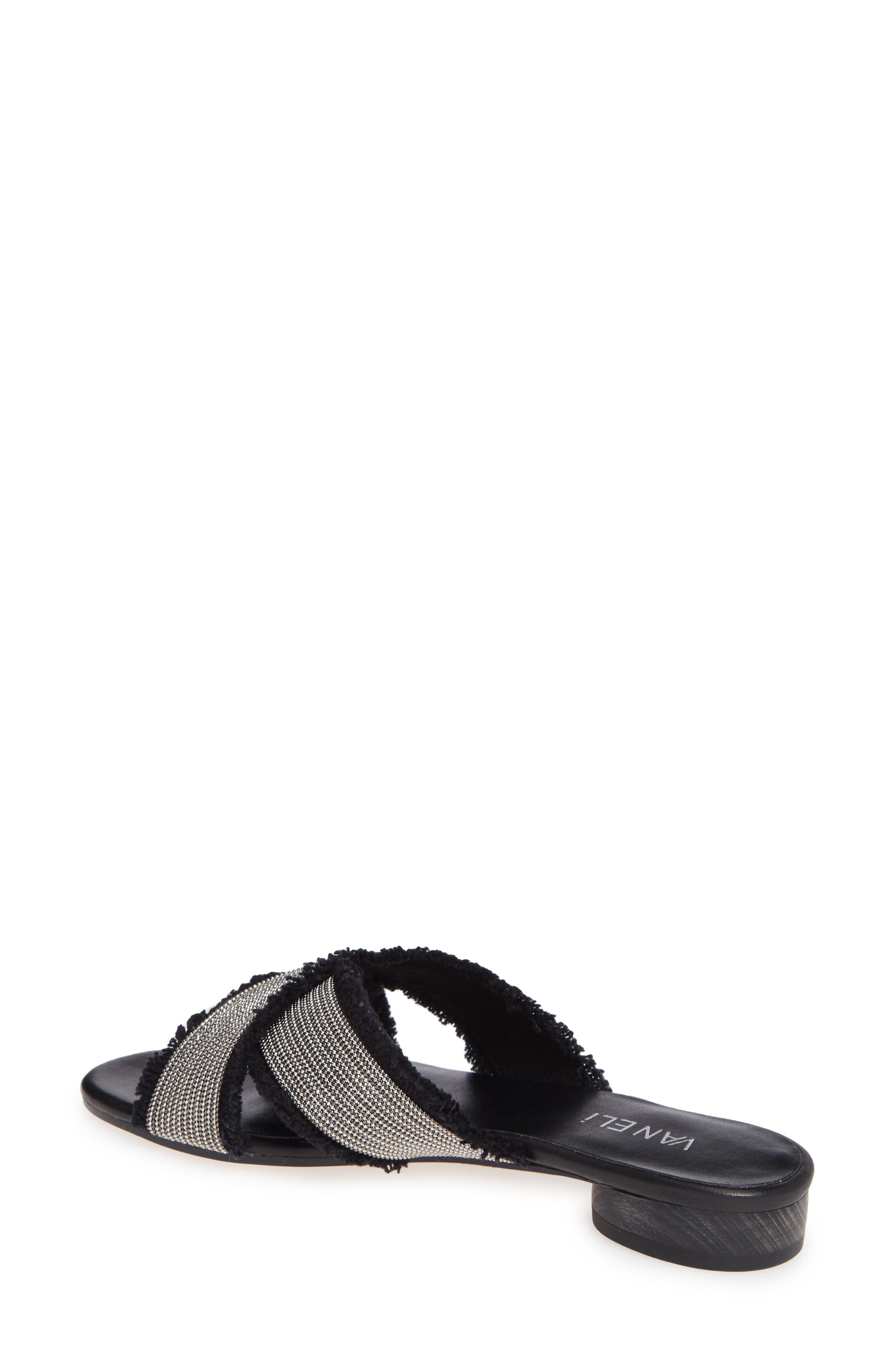 Baret Slide Sandal,                             Alternate thumbnail 2, color,                             BLACK FABRIC