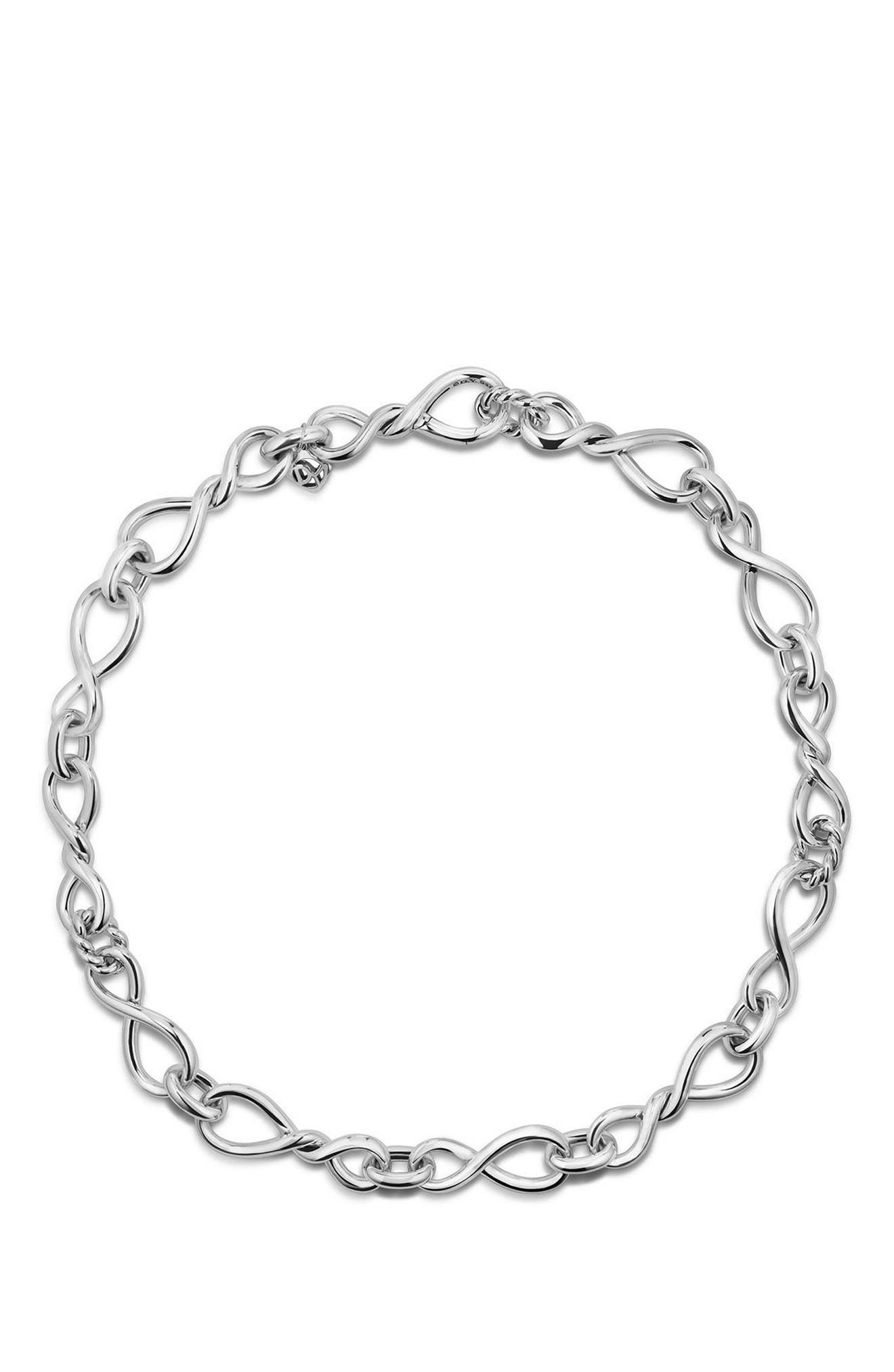 Continuance Large Chain Necklace,                             Alternate thumbnail 2, color,                             SILVER