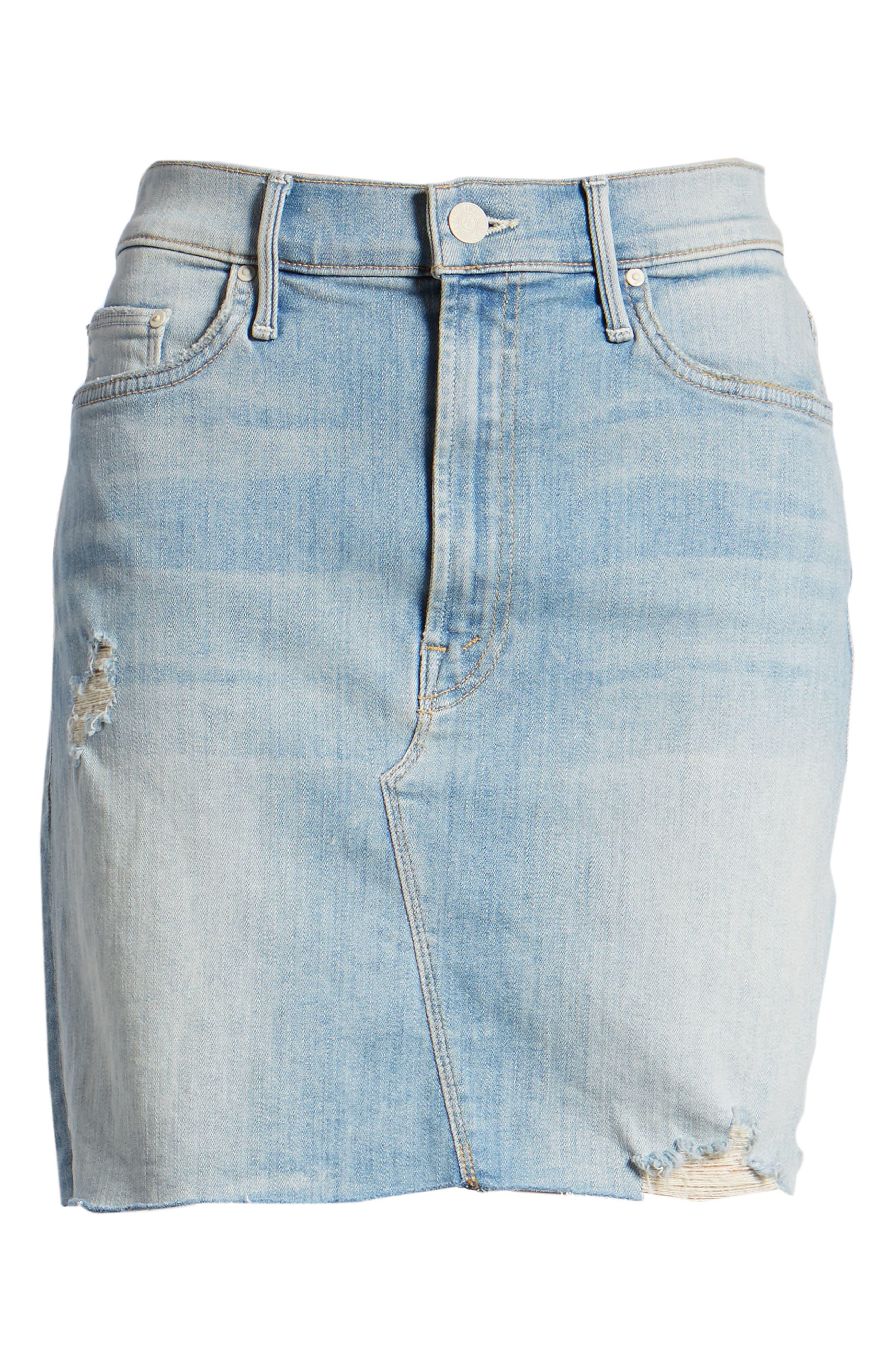 The Sacred Frayed High Waist Miniskirt,                             Alternate thumbnail 7, color,                             WRITTEN IN THE SAND