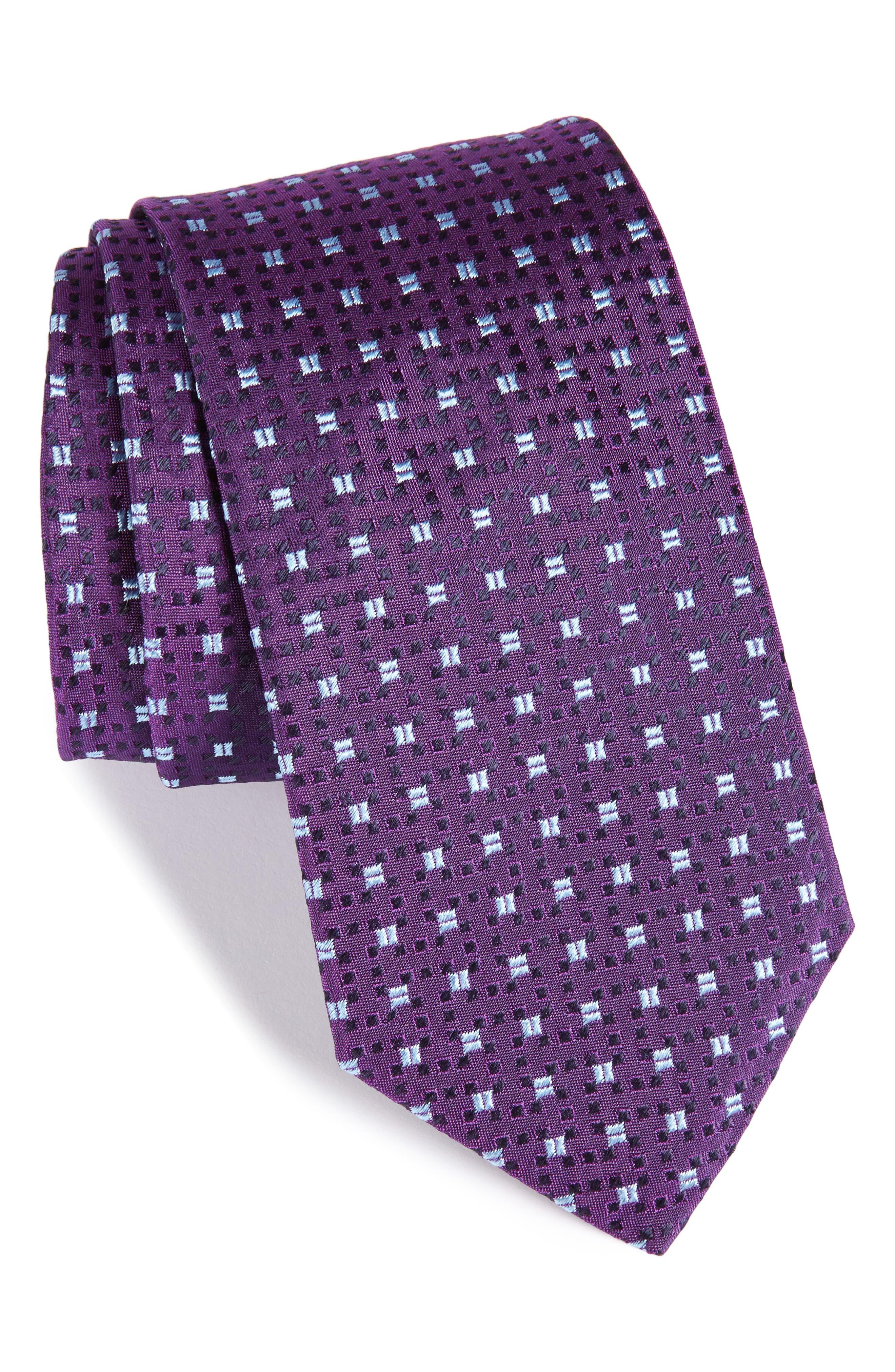 Geometric Silk Tie,                         Main,                         color, 511