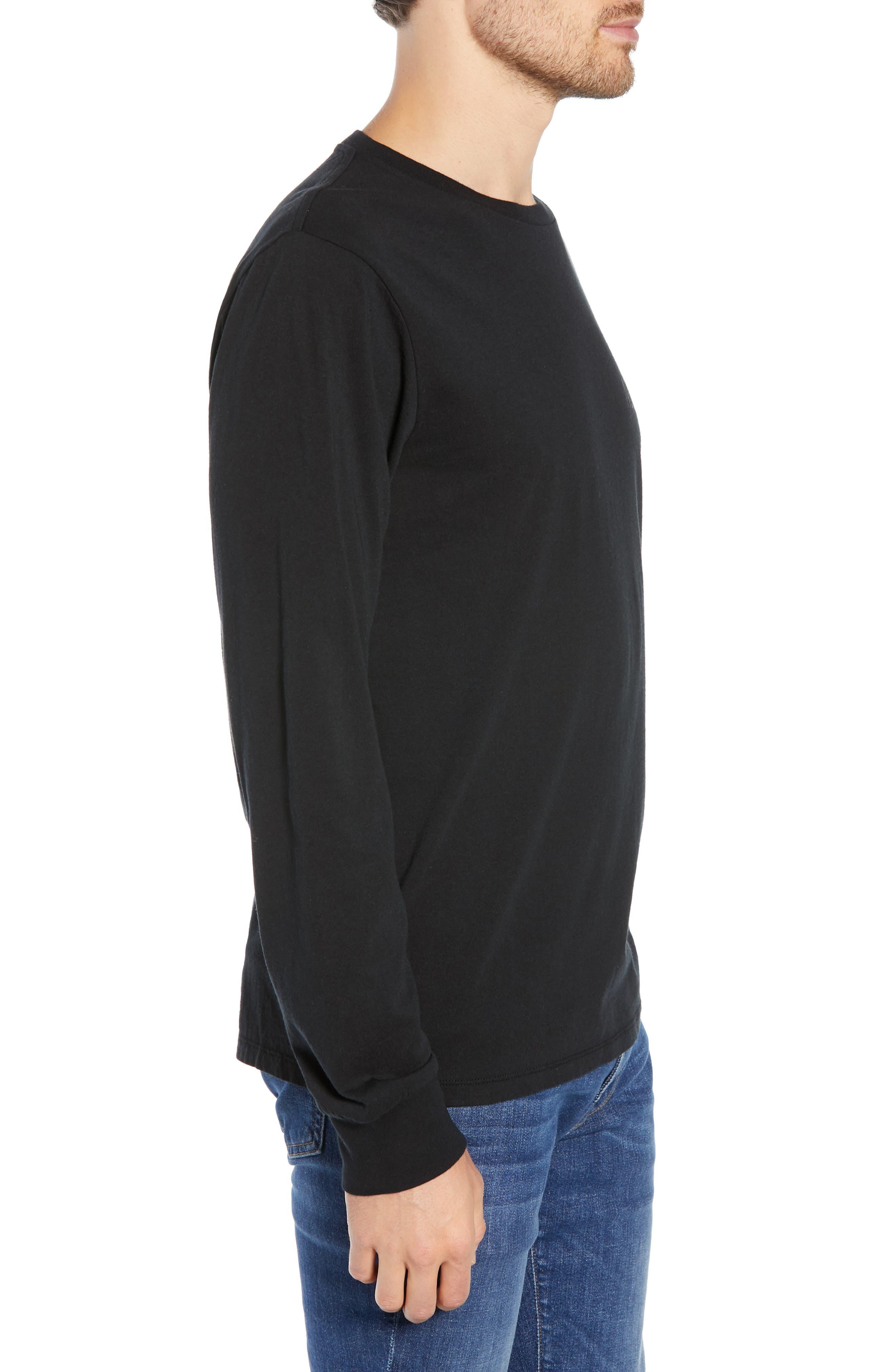 Brooklyn Banks Long Sleeve T-Shirt,                             Alternate thumbnail 3, color,                             BLACK