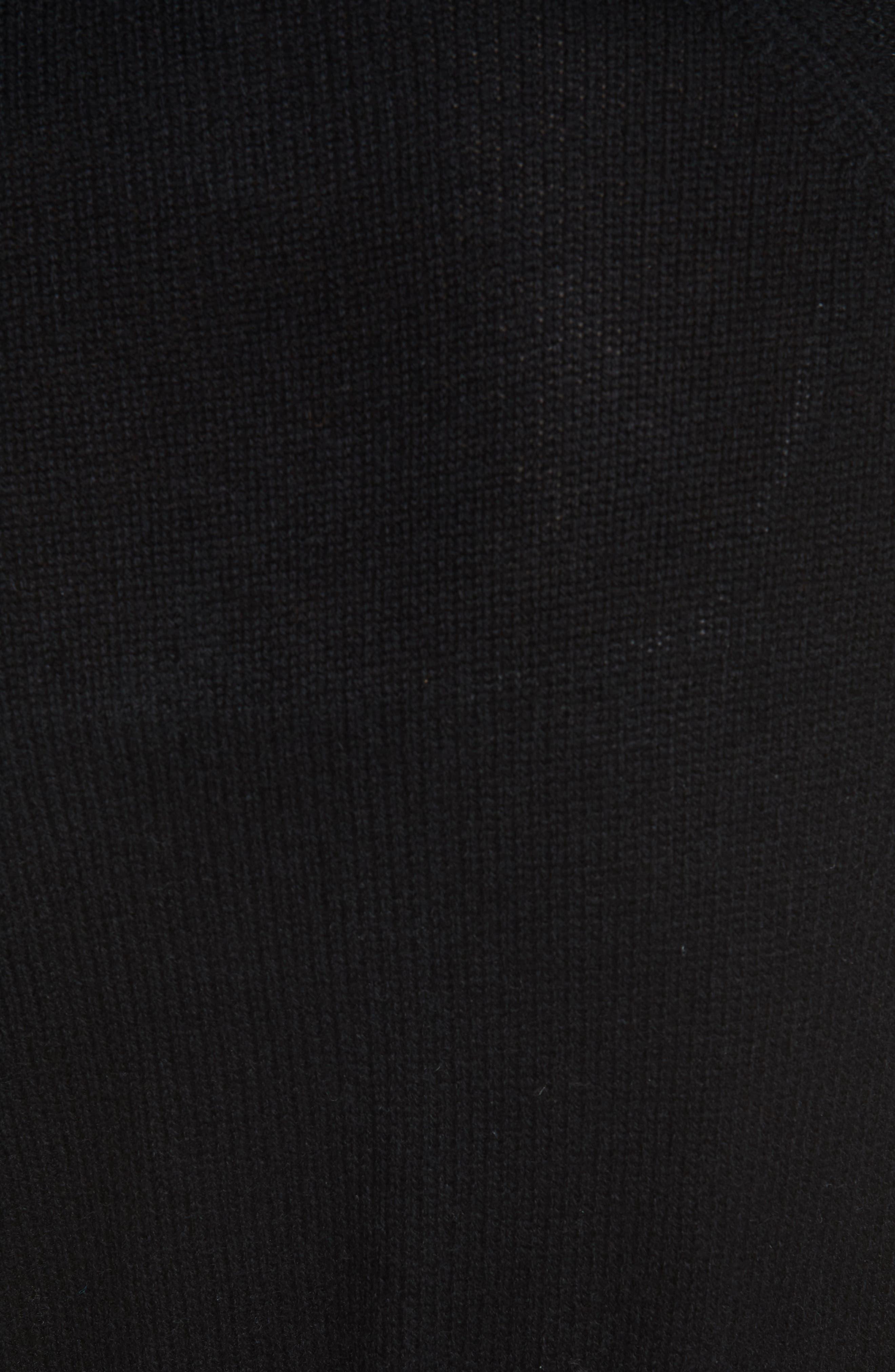 Malinka O Cashmere Tie Waist Cardigan,                             Alternate thumbnail 5, color,                             BLACK
