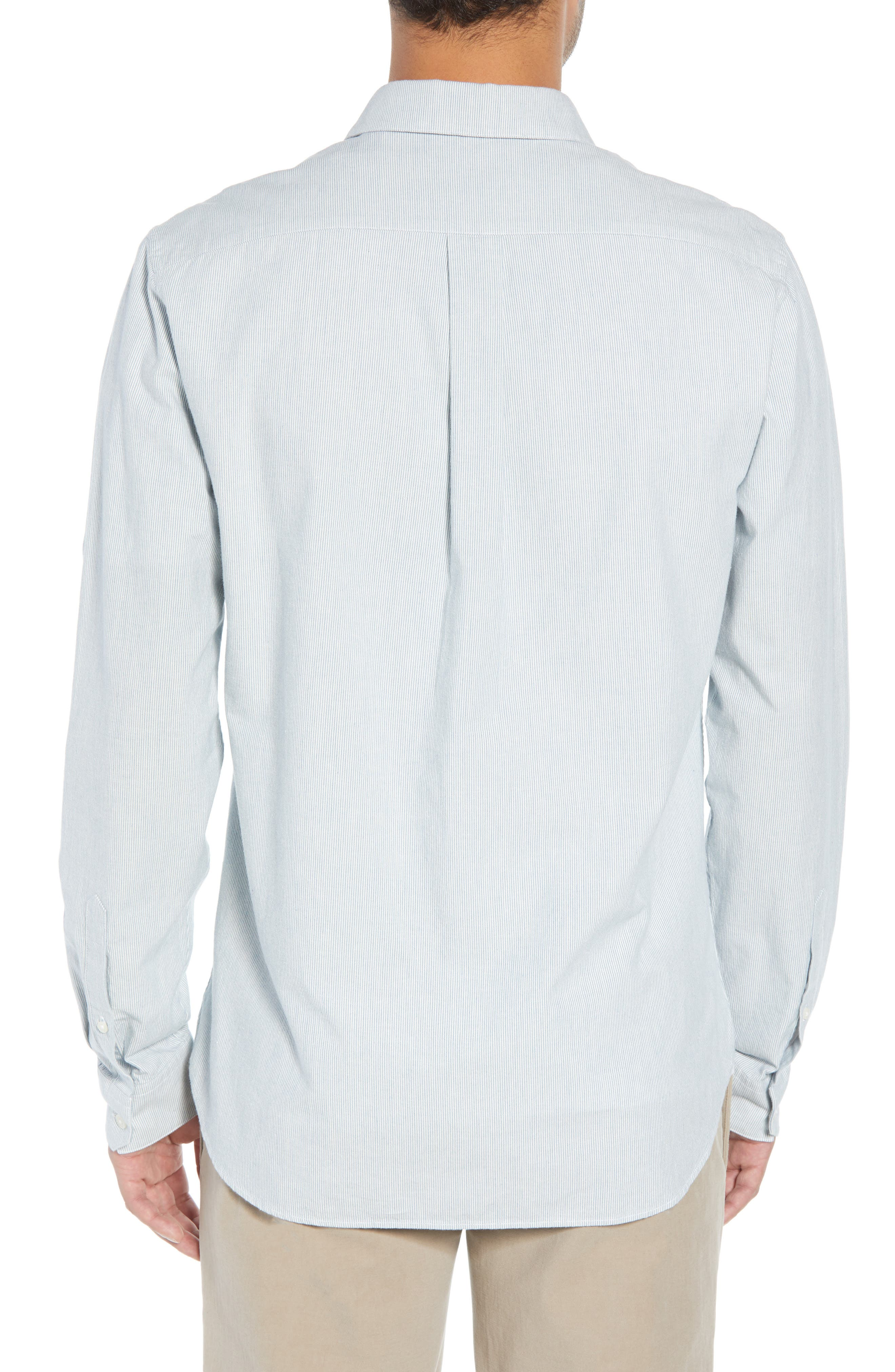 Classic Fit Microstripe Sport Shirt,                             Alternate thumbnail 3, color,                             424