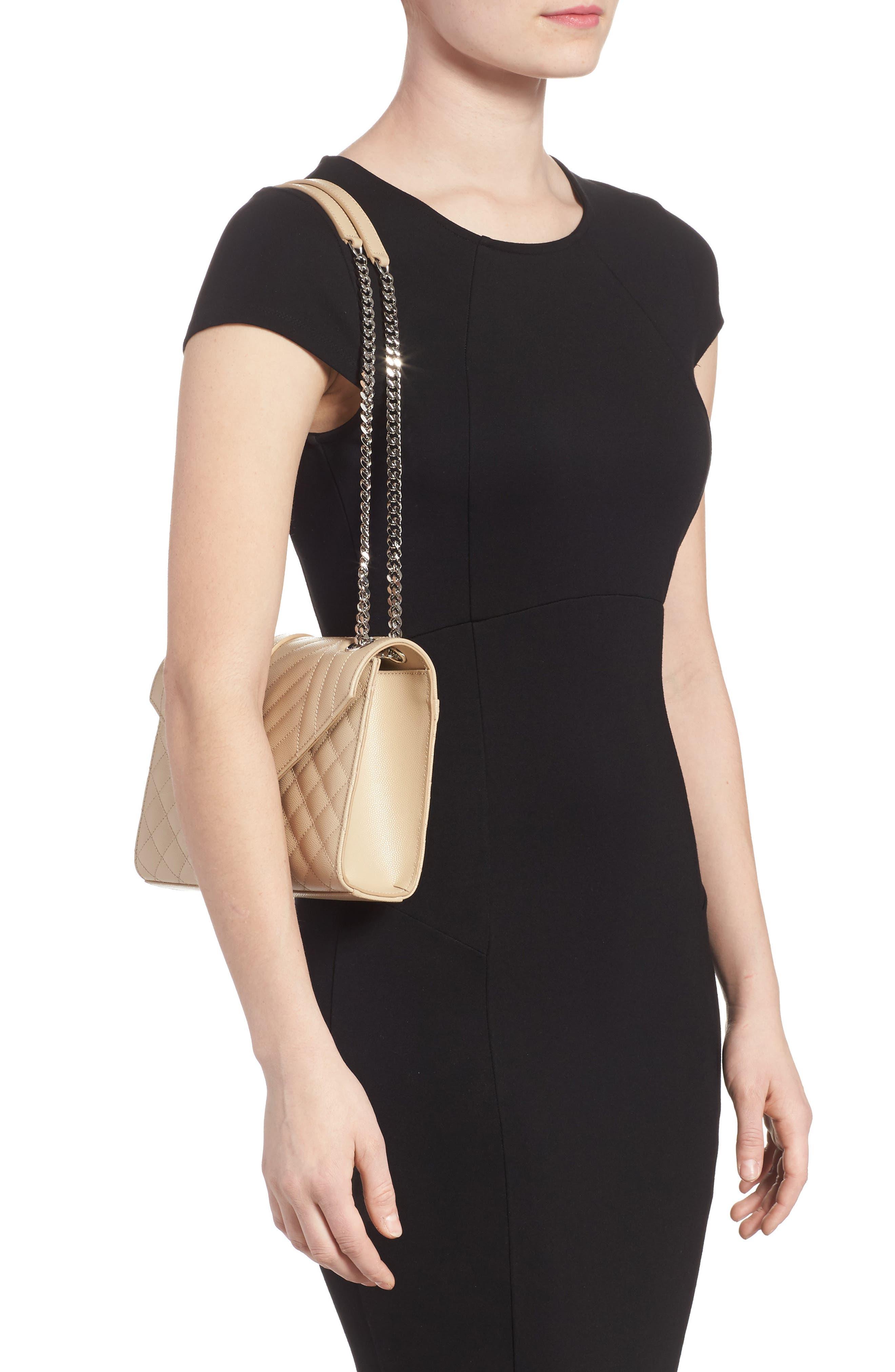Medium Cassandra Calfskin Shoulder Bag,                             Alternate thumbnail 2, color,                             POUDRE