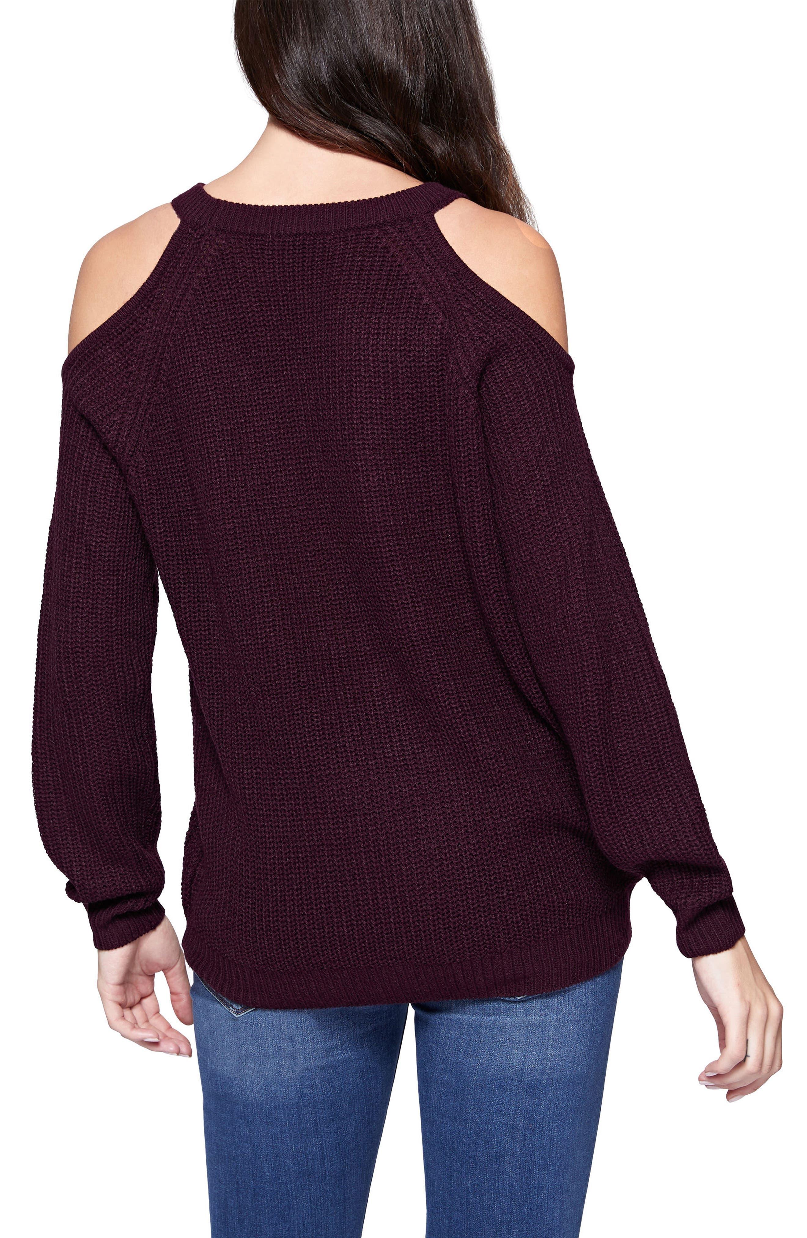 Riley Cold Shoulder Sweater,                             Alternate thumbnail 16, color,