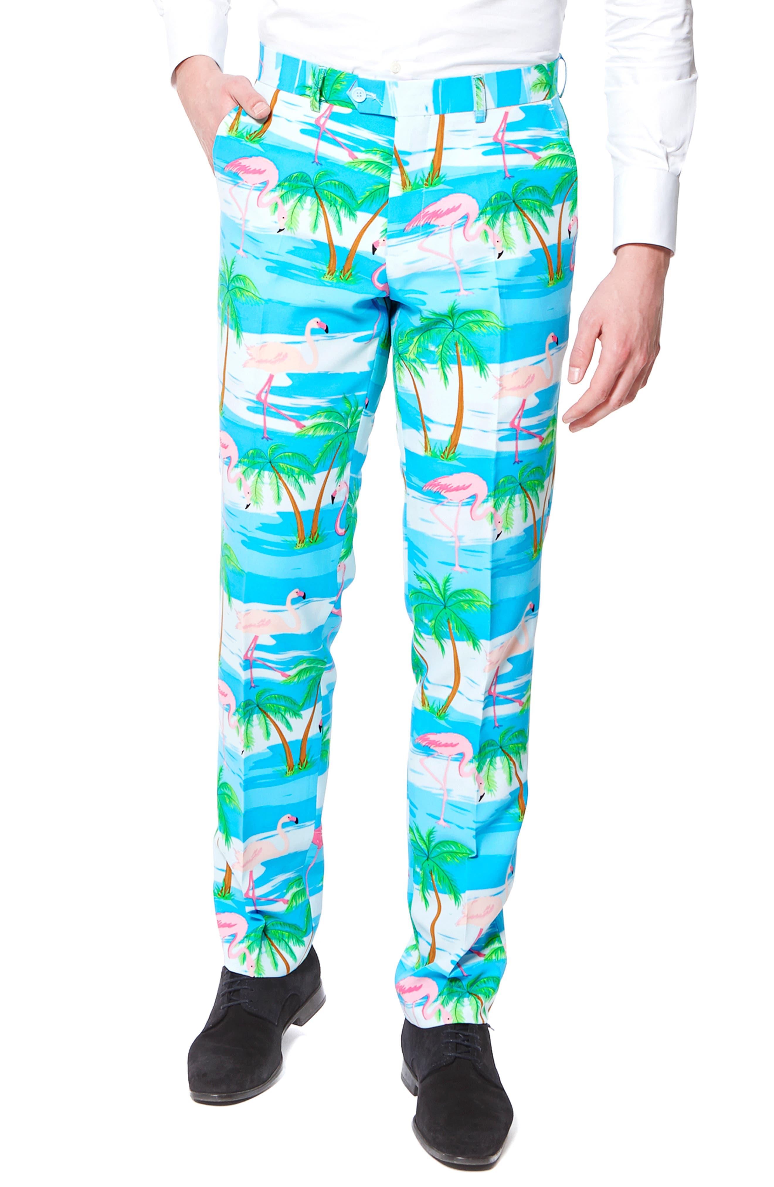 'Flaminguy' Trim Fit Two-Piece Suit with Tie,                             Alternate thumbnail 3, color,                             400