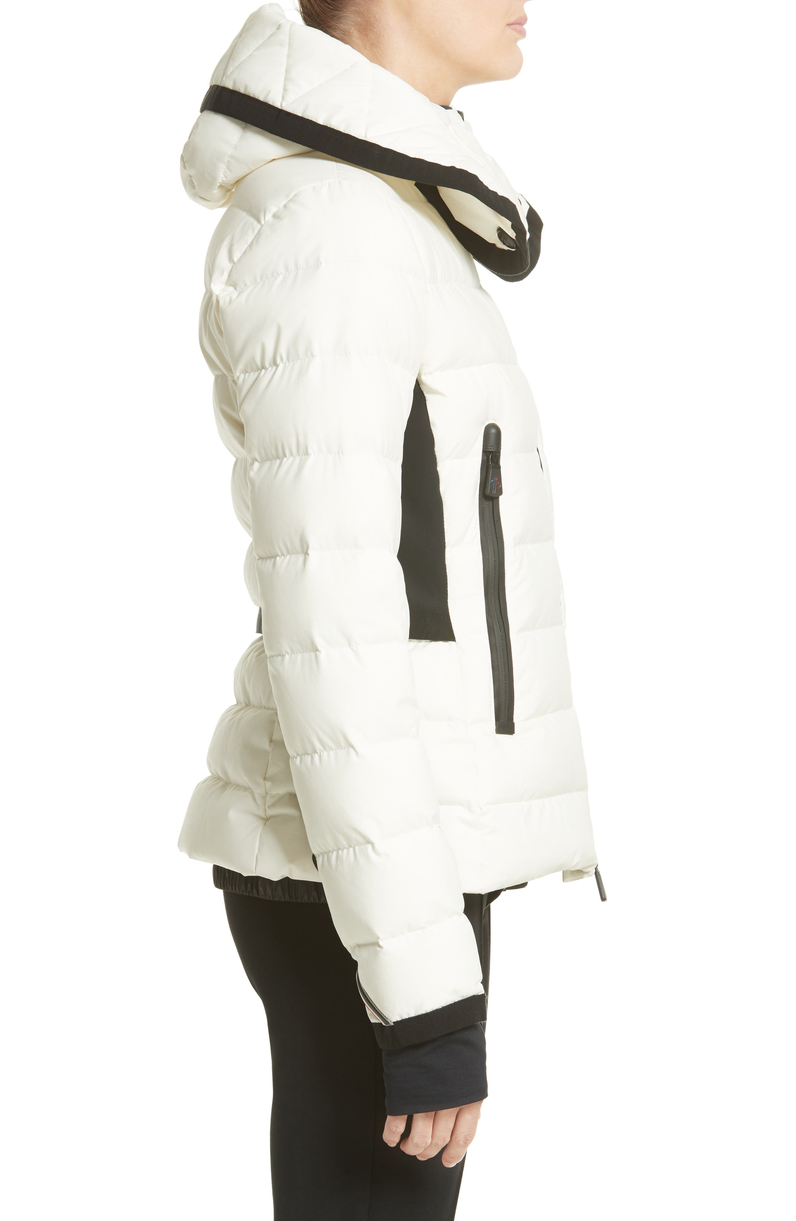 Lamoura Quilted Down Puffer Coat,                             Alternate thumbnail 3, color,                             WHITE