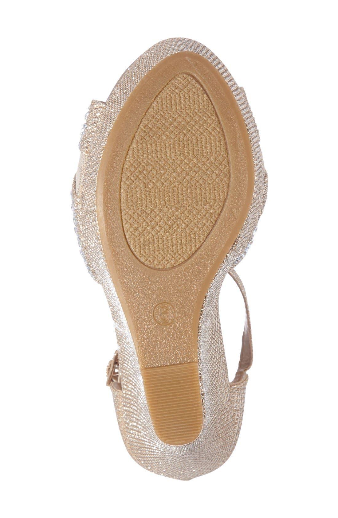 Ness Crystal Embellished Wedge Sandal,                             Alternate thumbnail 12, color,