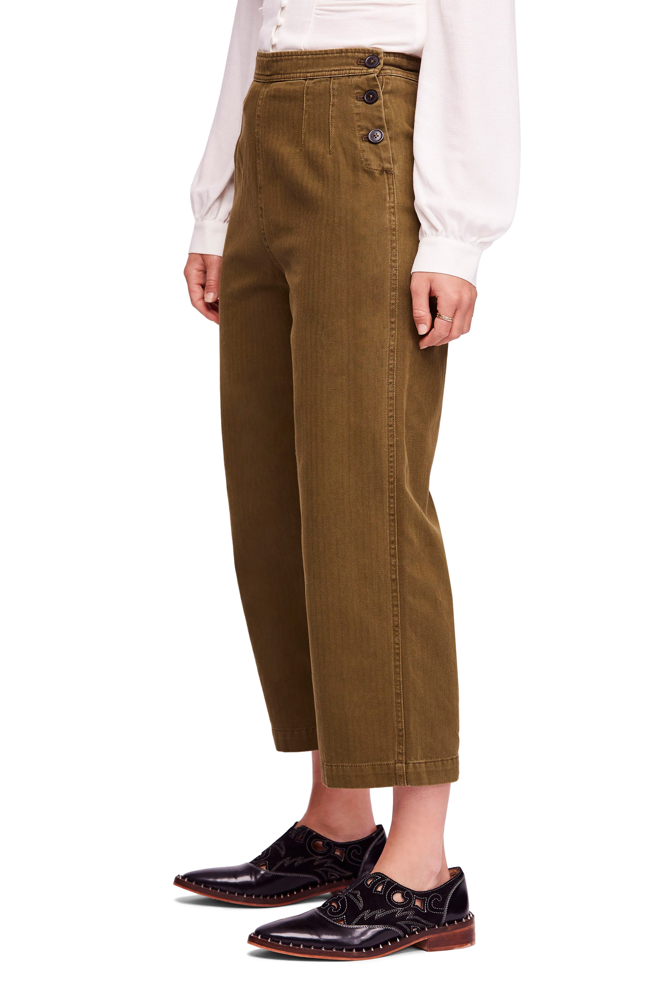 We the Free by Free People Utility Crop Pants,                             Alternate thumbnail 3, color,                             MOSS
