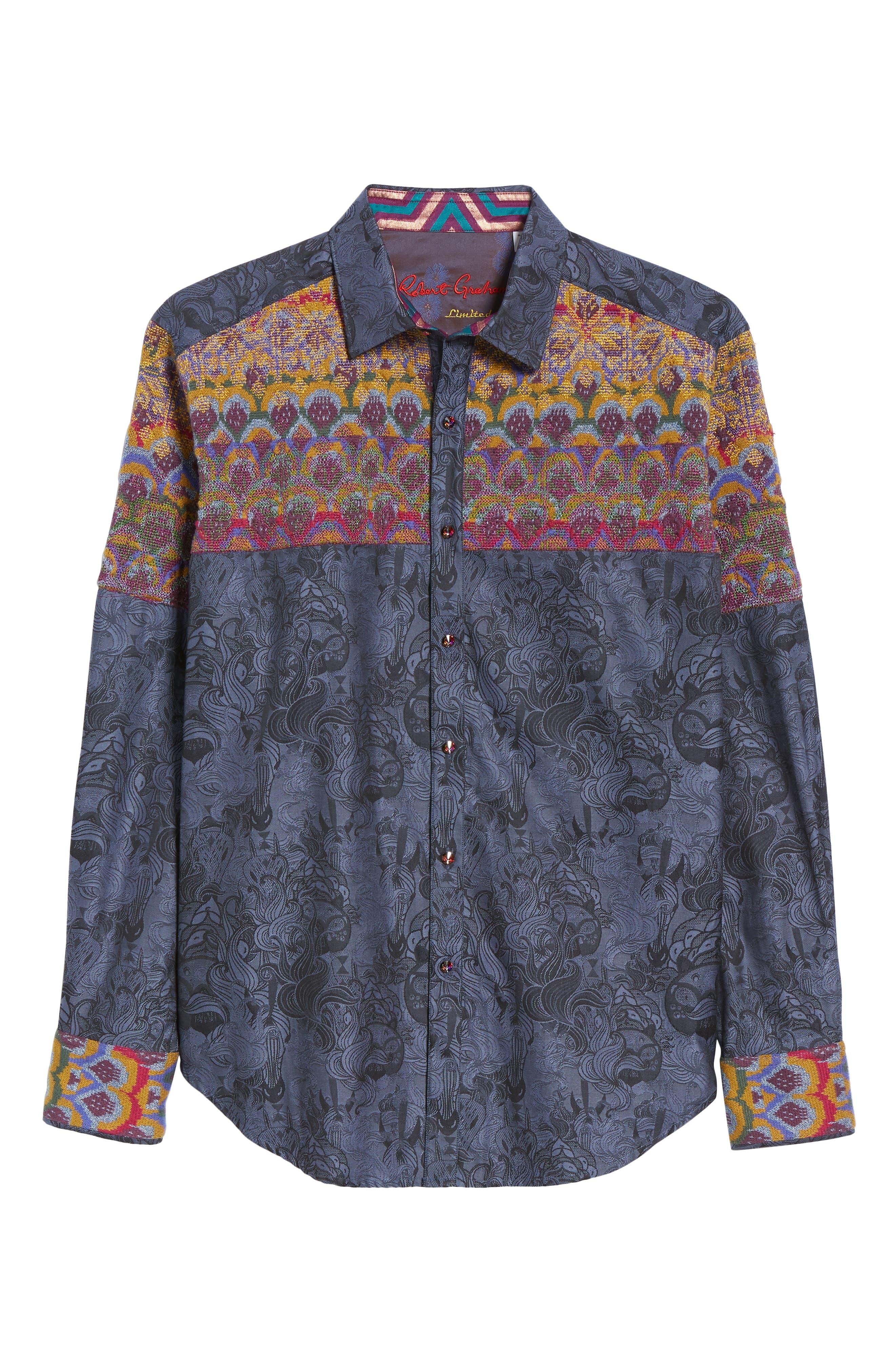 Paradise Valley Classic Fit Sport Shirt,                             Alternate thumbnail 5, color,                             MULTI