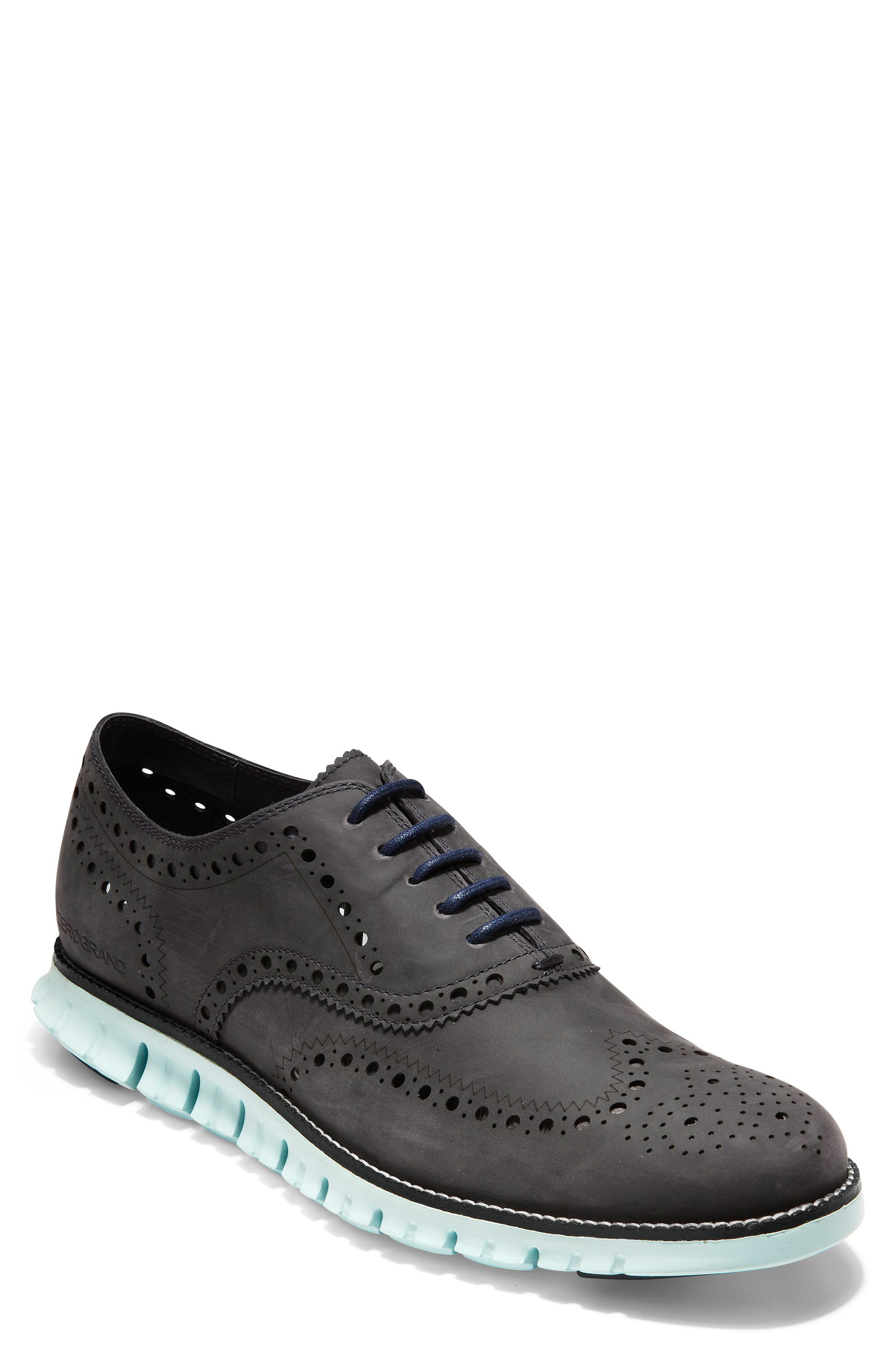 'ZeroGrand' Wingtip Oxford, Main, color, PEACOAT/ MIST