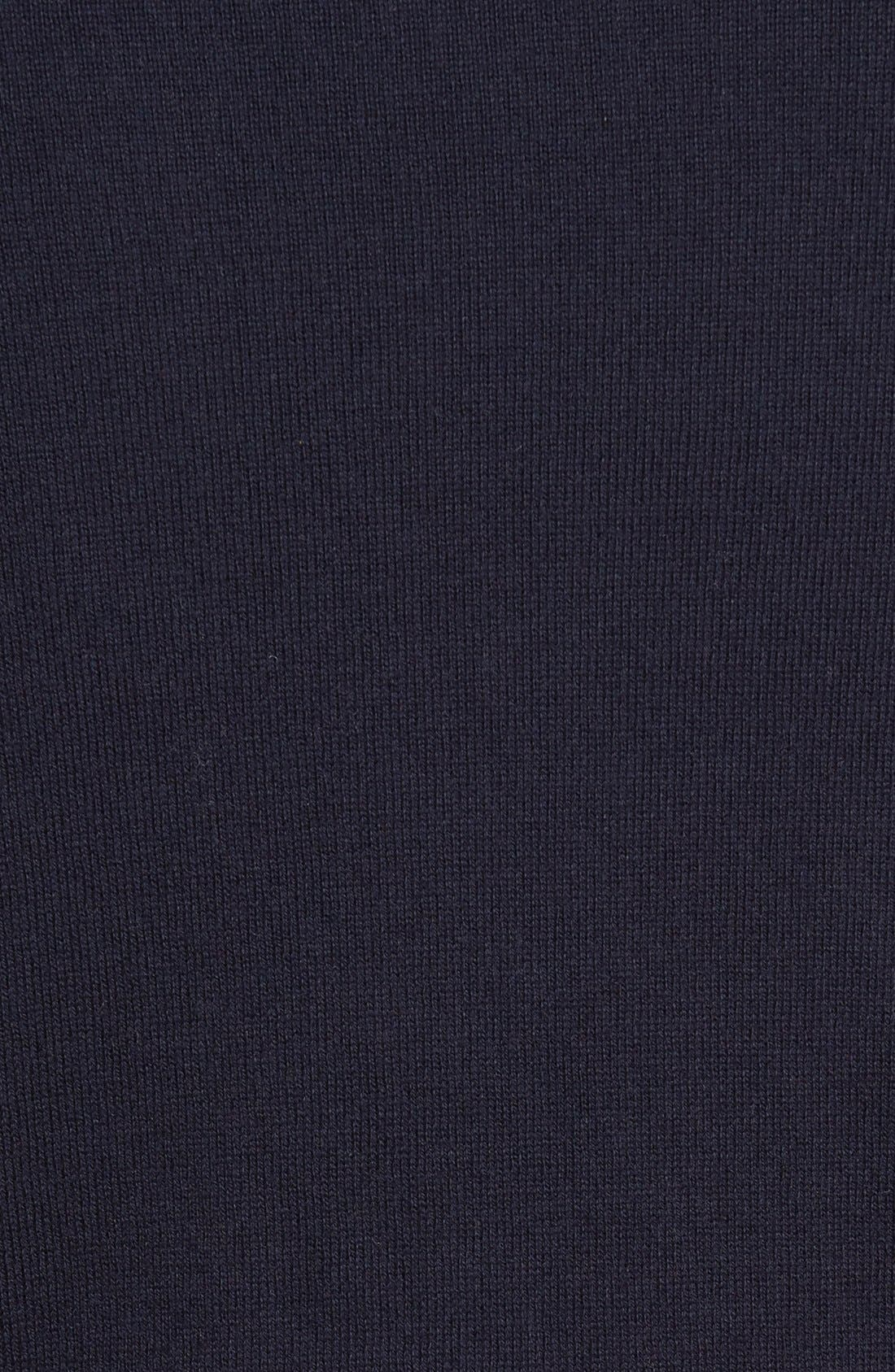 Half Zip Cotton & Cashmere Pullover,                             Alternate thumbnail 7, color,                             NAVY NIGHT