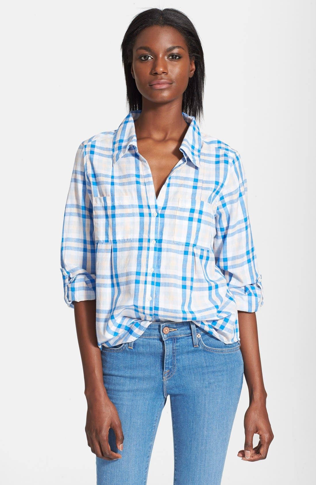 'Cartel' Check Cotton Shirt,                             Main thumbnail 2, color,