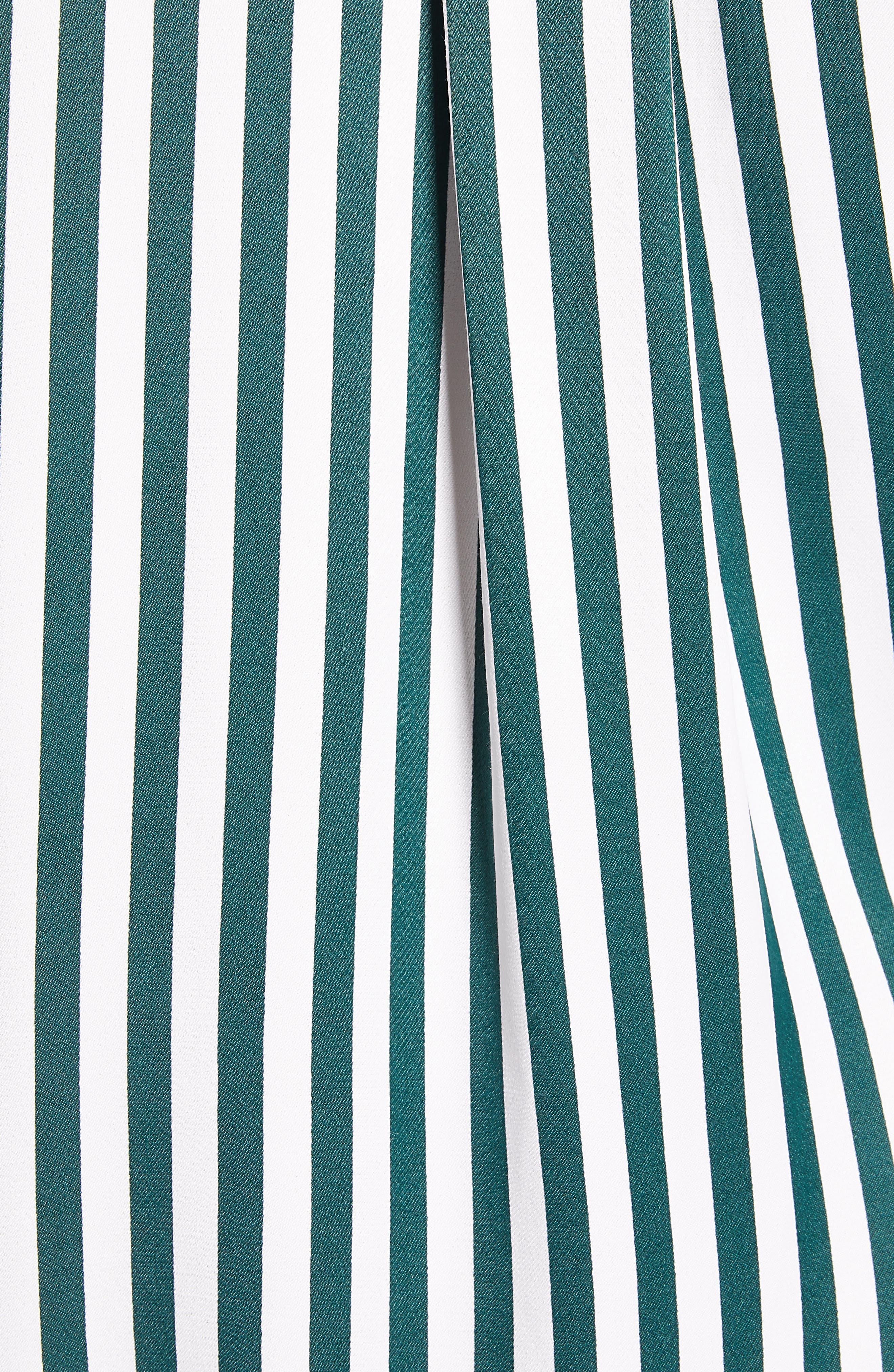 Striped Boyfriend Shirt,                             Alternate thumbnail 5, color,                             GREEN BUG WIDE STRIPE