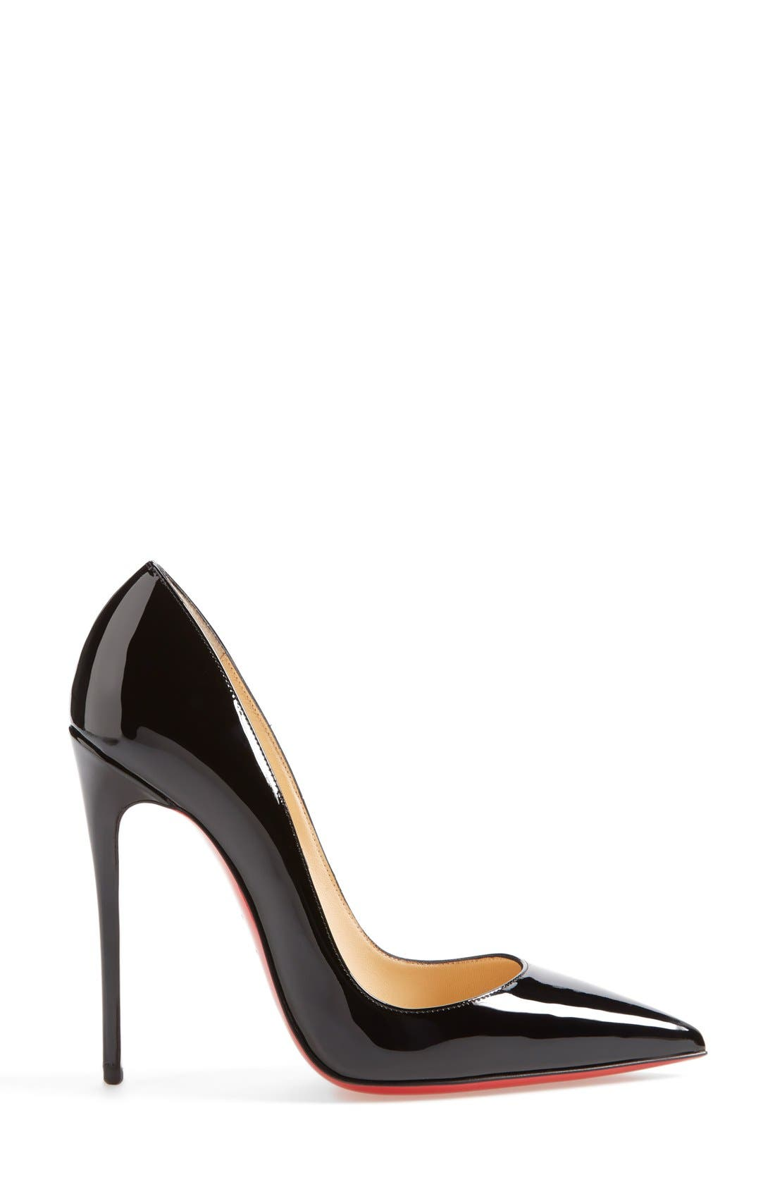 'So Kate' Pointy Toe Pump,                             Alternate thumbnail 4, color,                             BLACK