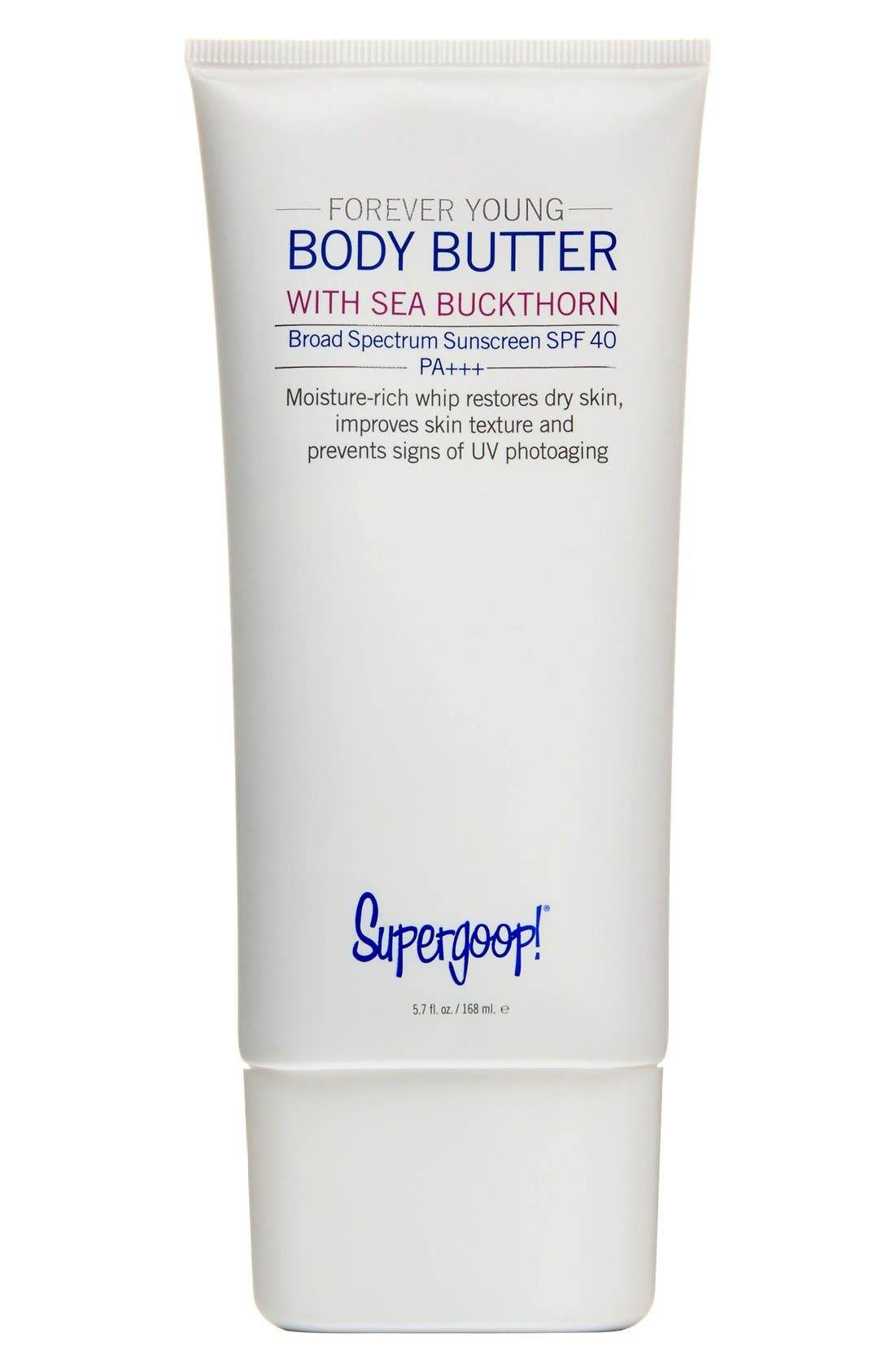 Supergoop! 'Forever Young' Body Butter SPF 40,                         Main,                         color, NO COLOR