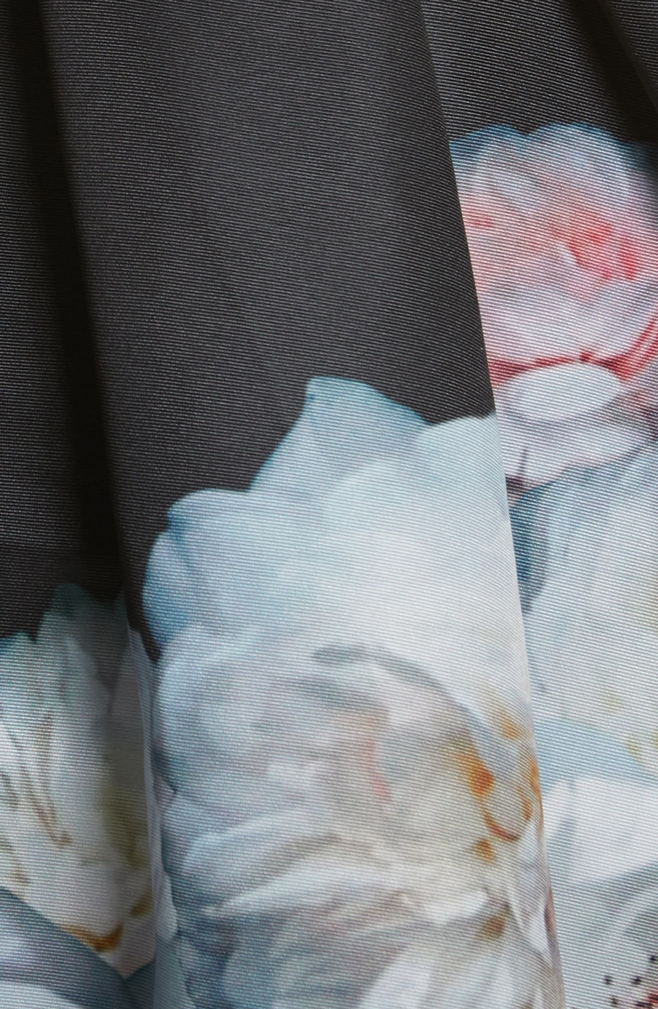 Jelina Chelsea Floral Fit & Flare Dress,                             Alternate thumbnail 5, color,                             001