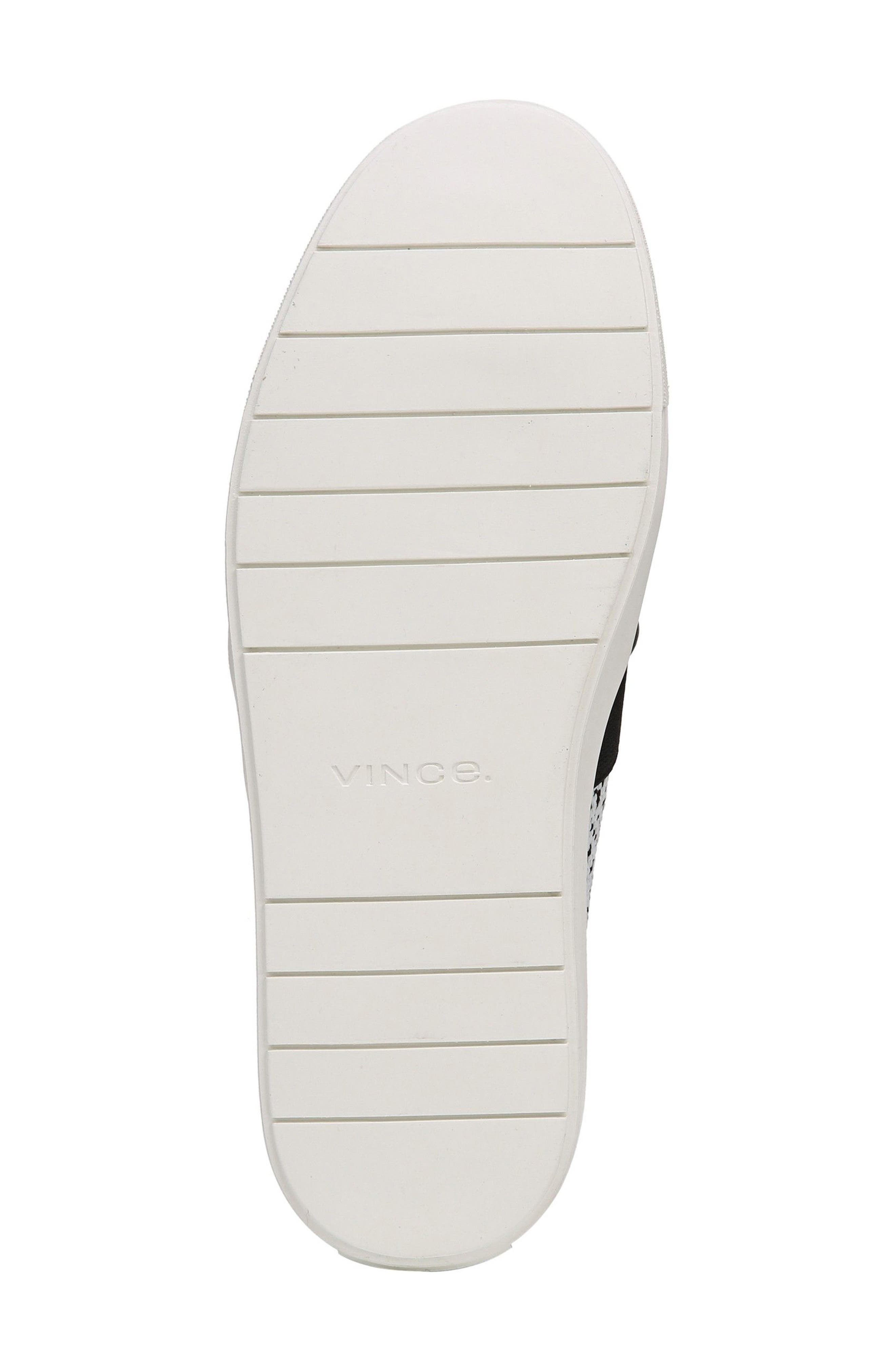 'Blair 12' Leather Slip-On Sneaker,                             Alternate thumbnail 5, color,                             WHITE/ BLACK YETI KNIT