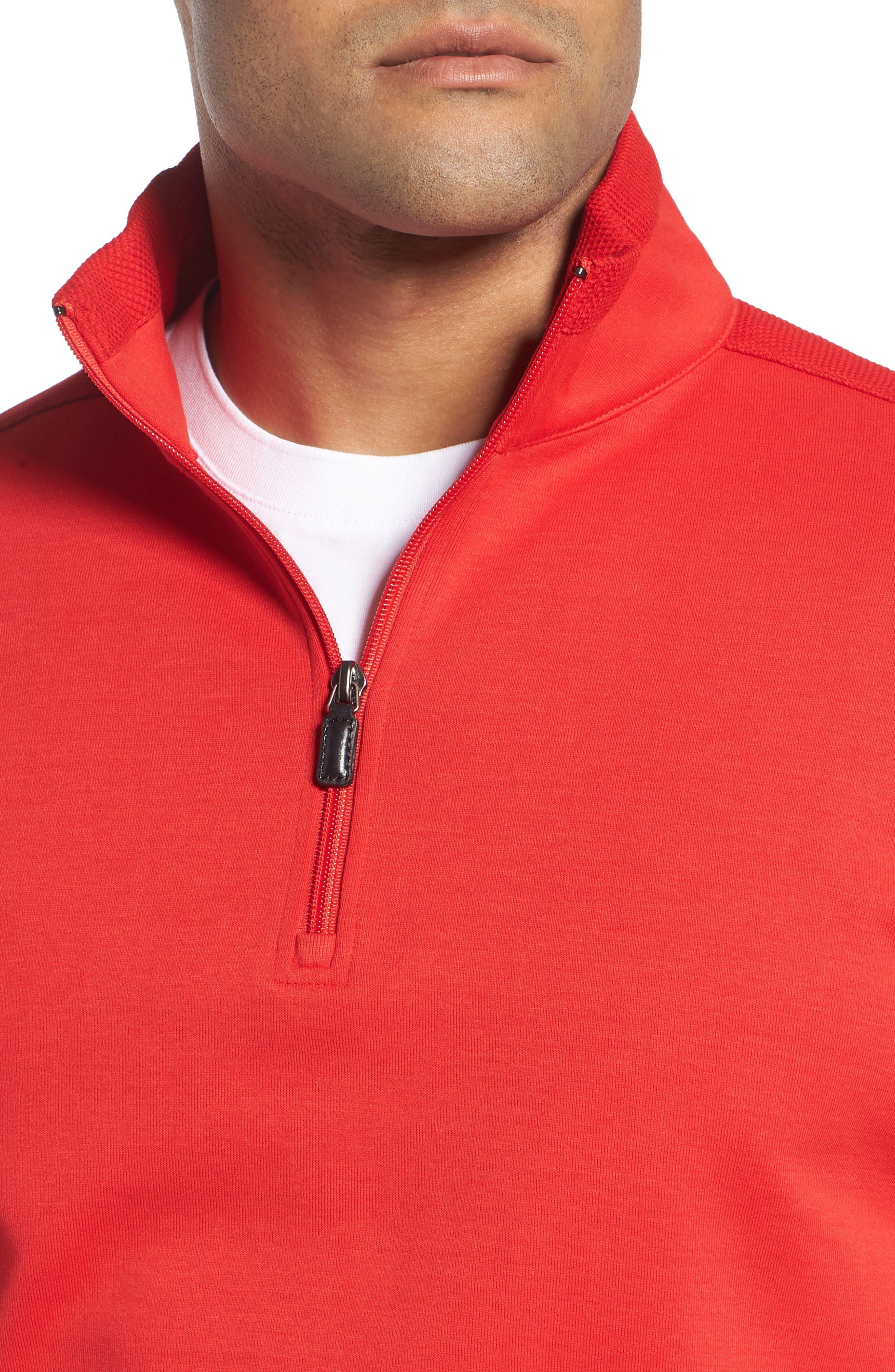 Regular Fit Knit Quarter Zip Pullover,                             Alternate thumbnail 16, color,