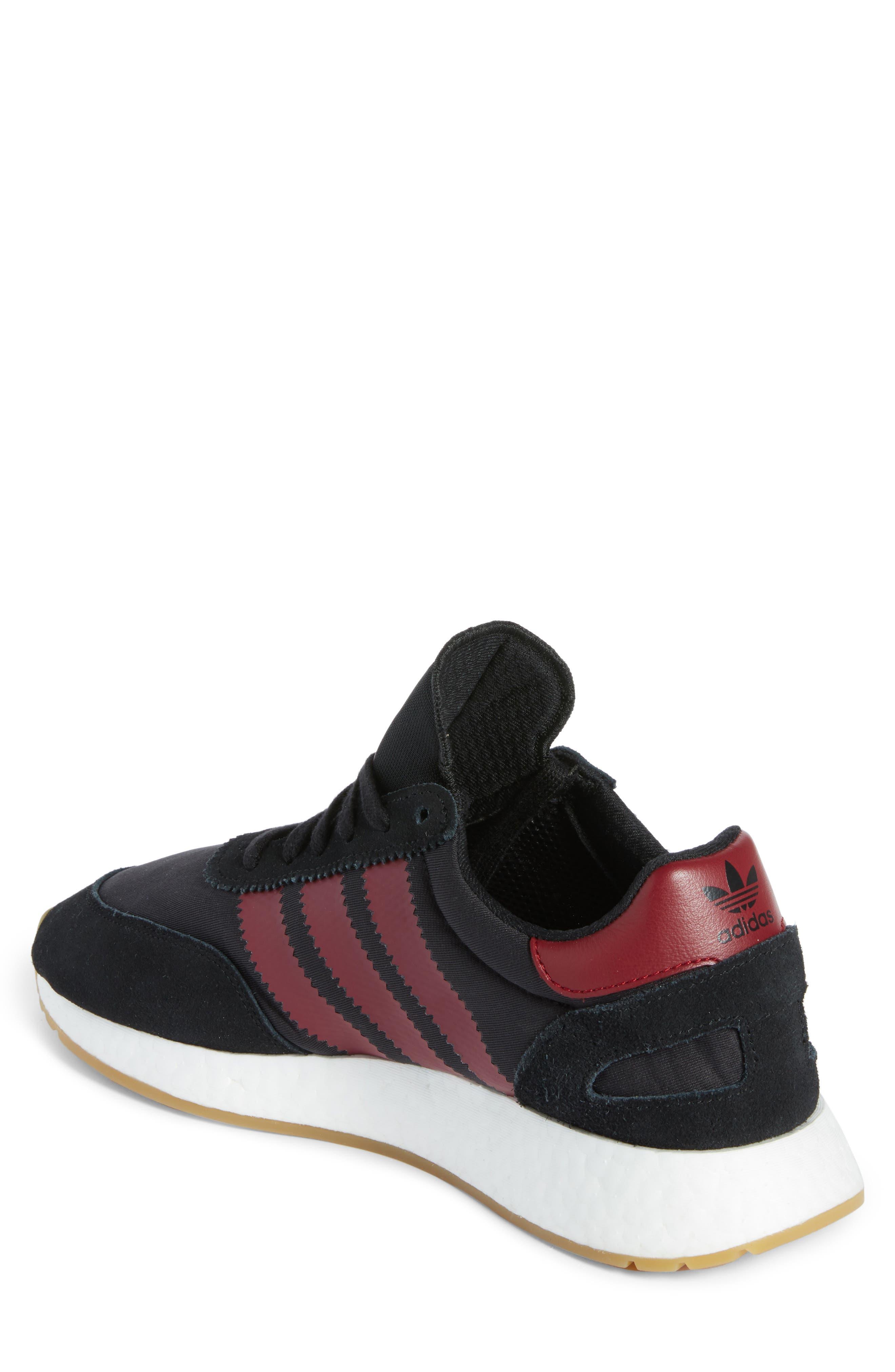 I-5923 Sneaker,                             Alternate thumbnail 2, color,                             BLACK/ BURGUNDY/ WHITE