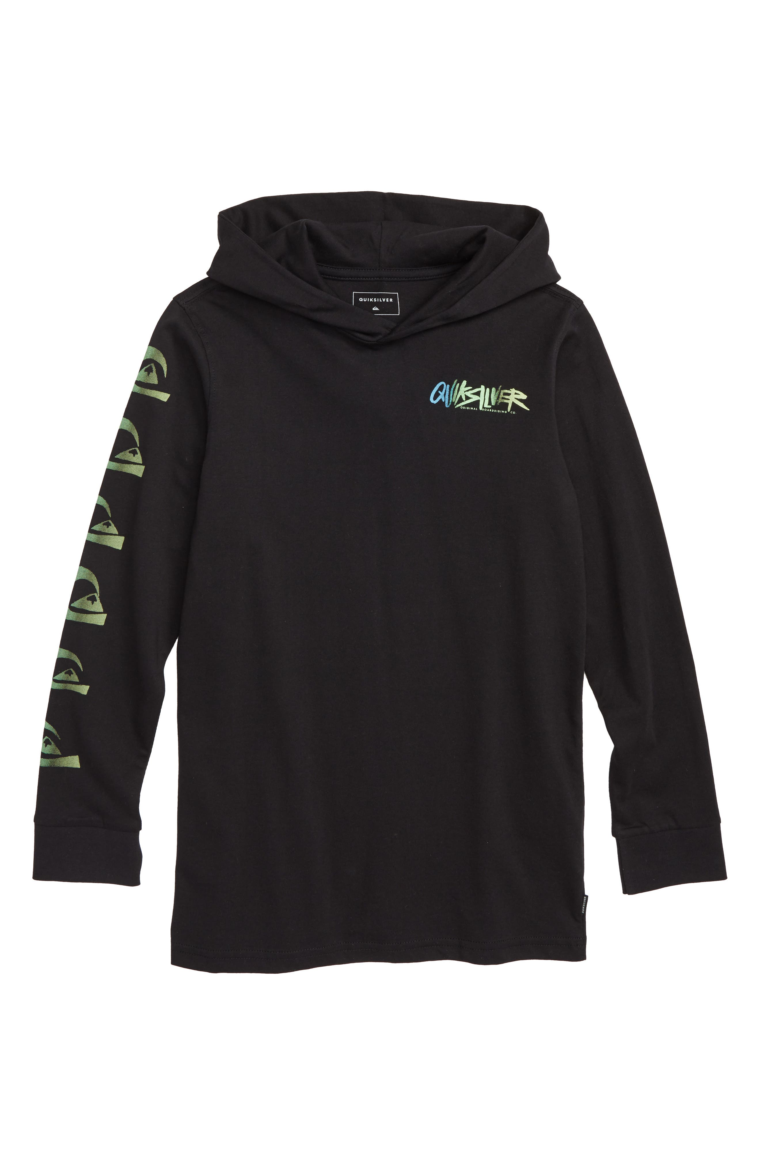 QUIKSILVER,                             Rough Right Hoodie,                             Main thumbnail 1, color,                             002