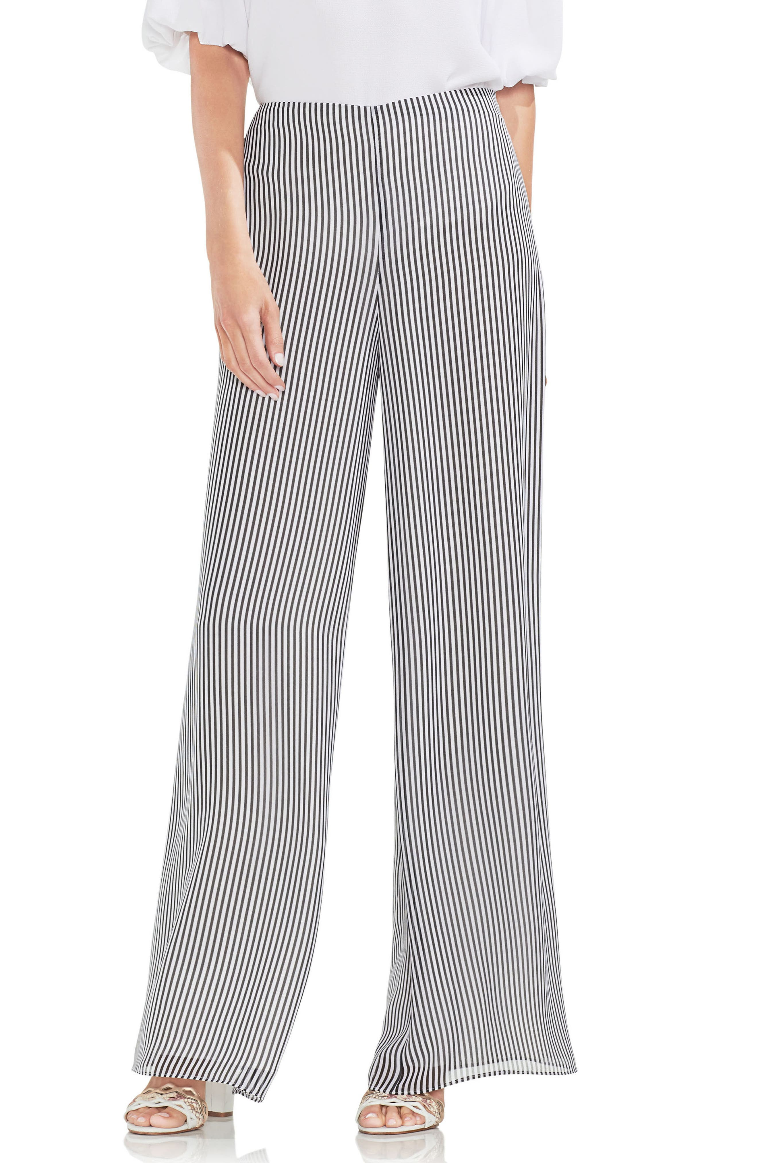 Island Pinstripe Wide Leg Pants,                         Main,                         color, 001