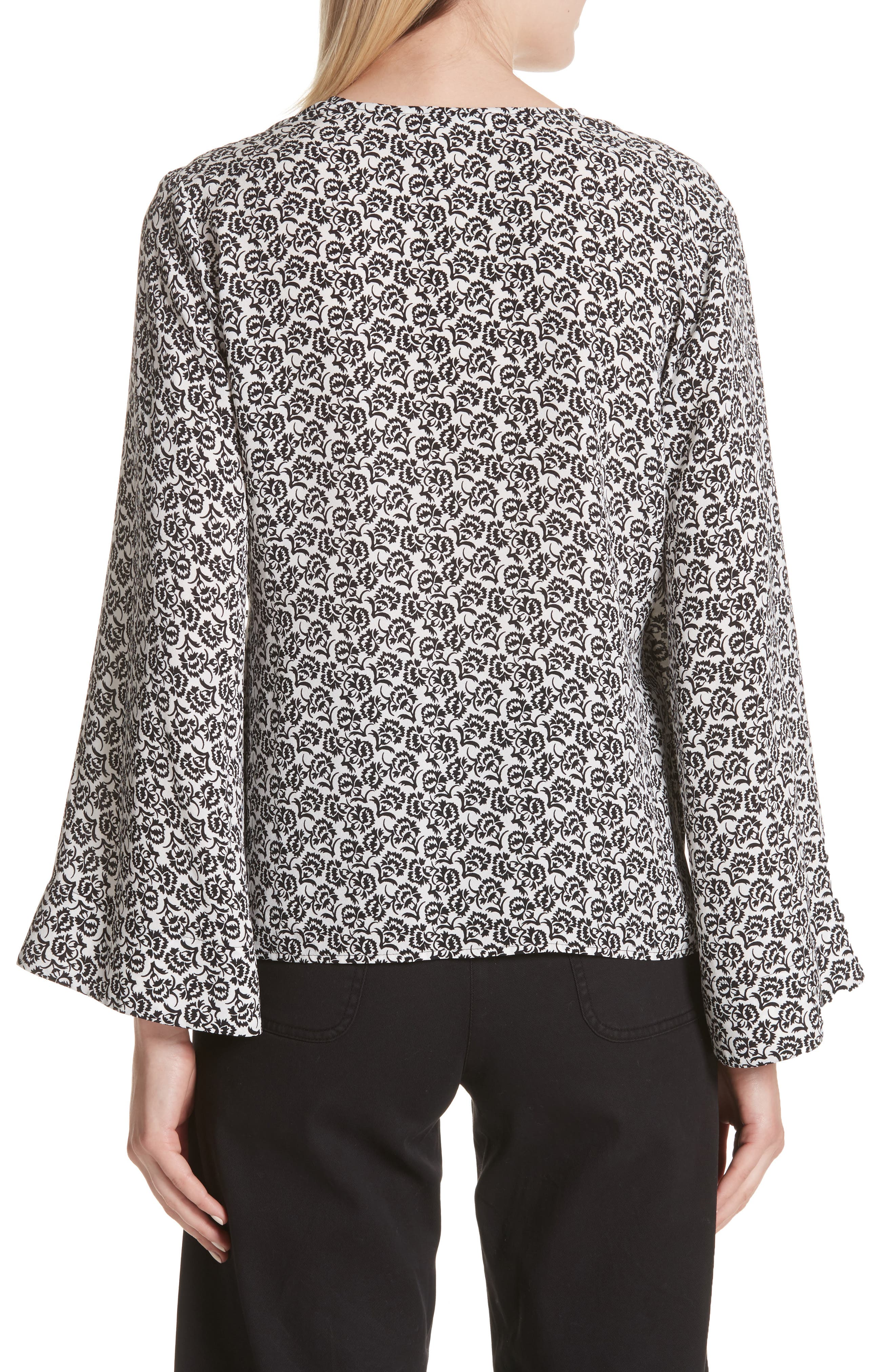 Ray Bell Sleeve Wrap Top,                             Alternate thumbnail 2, color,                             110