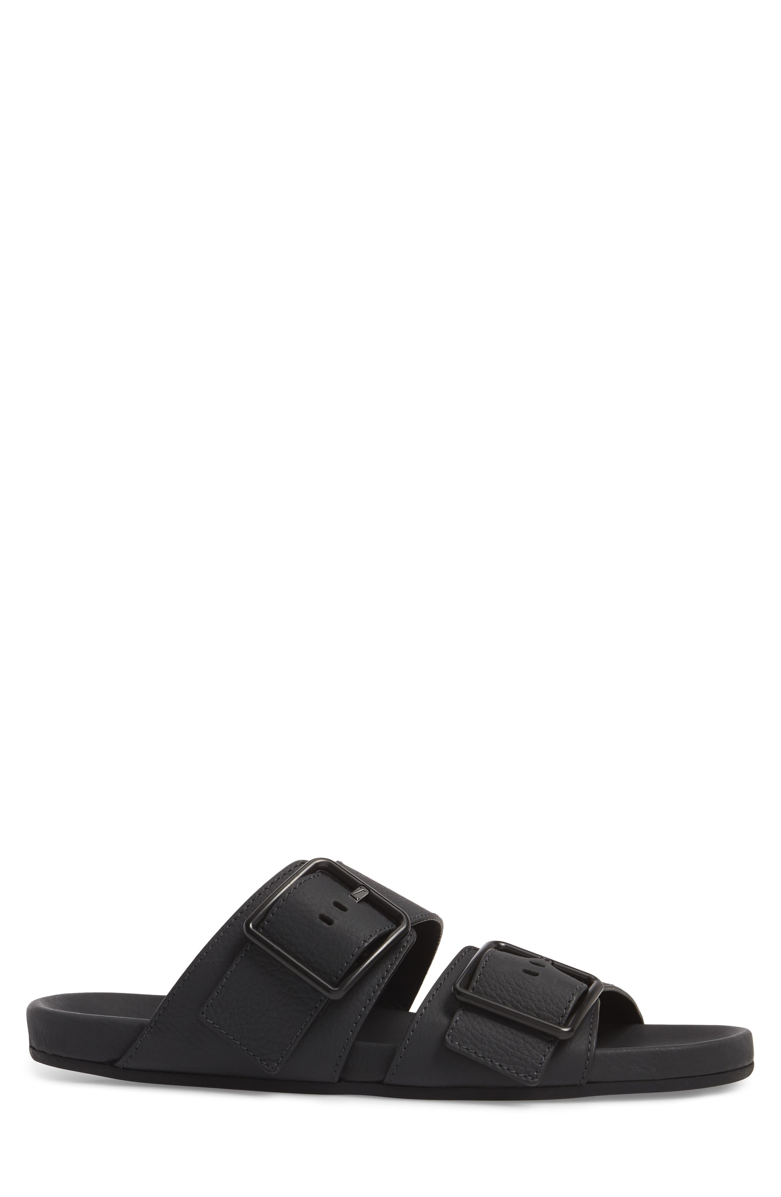 Double Strap Slide Sandal,                             Alternate thumbnail 3, color,                             001