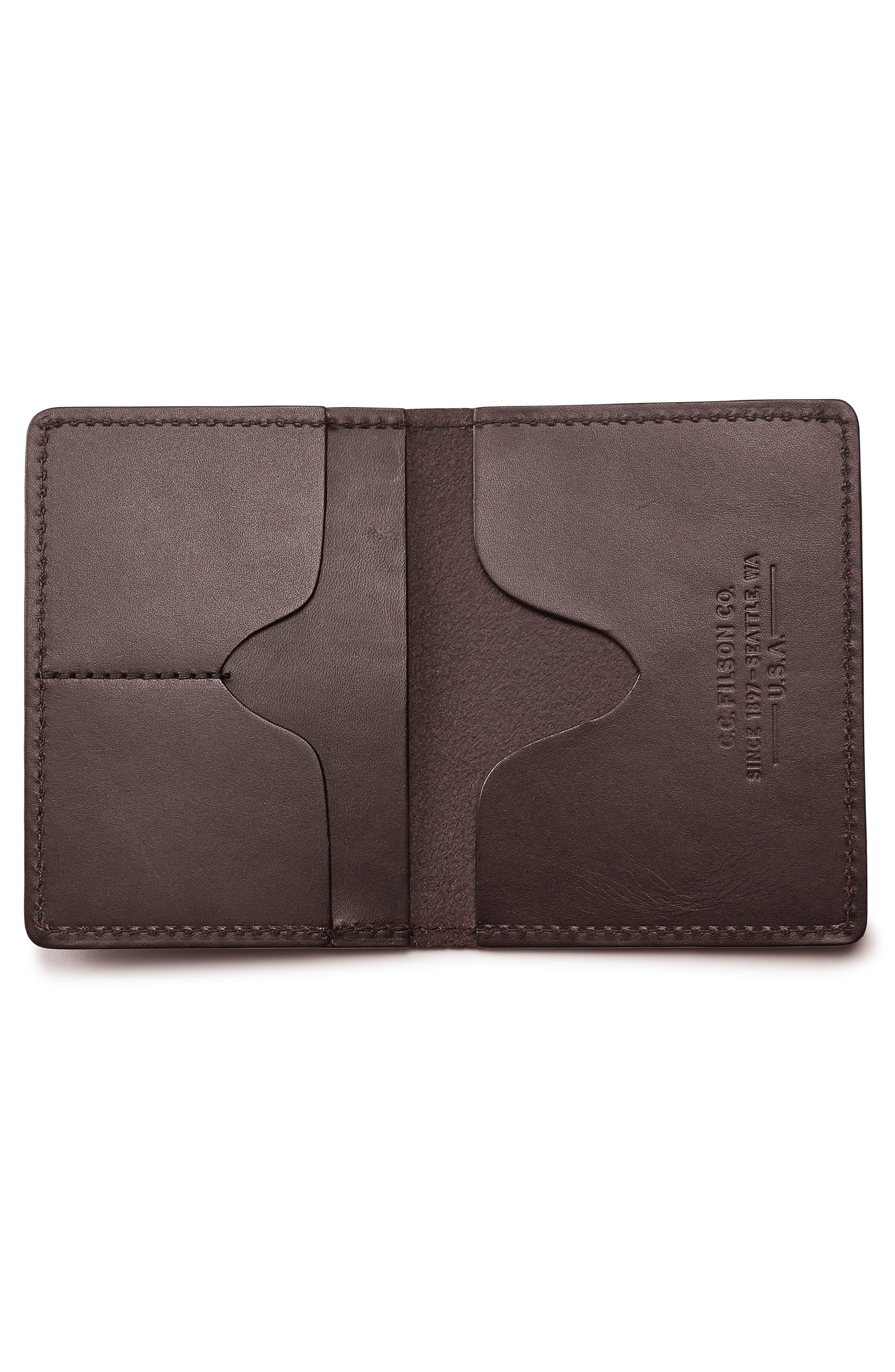 Leather Passport Case,                             Alternate thumbnail 2, color,                             BROWN